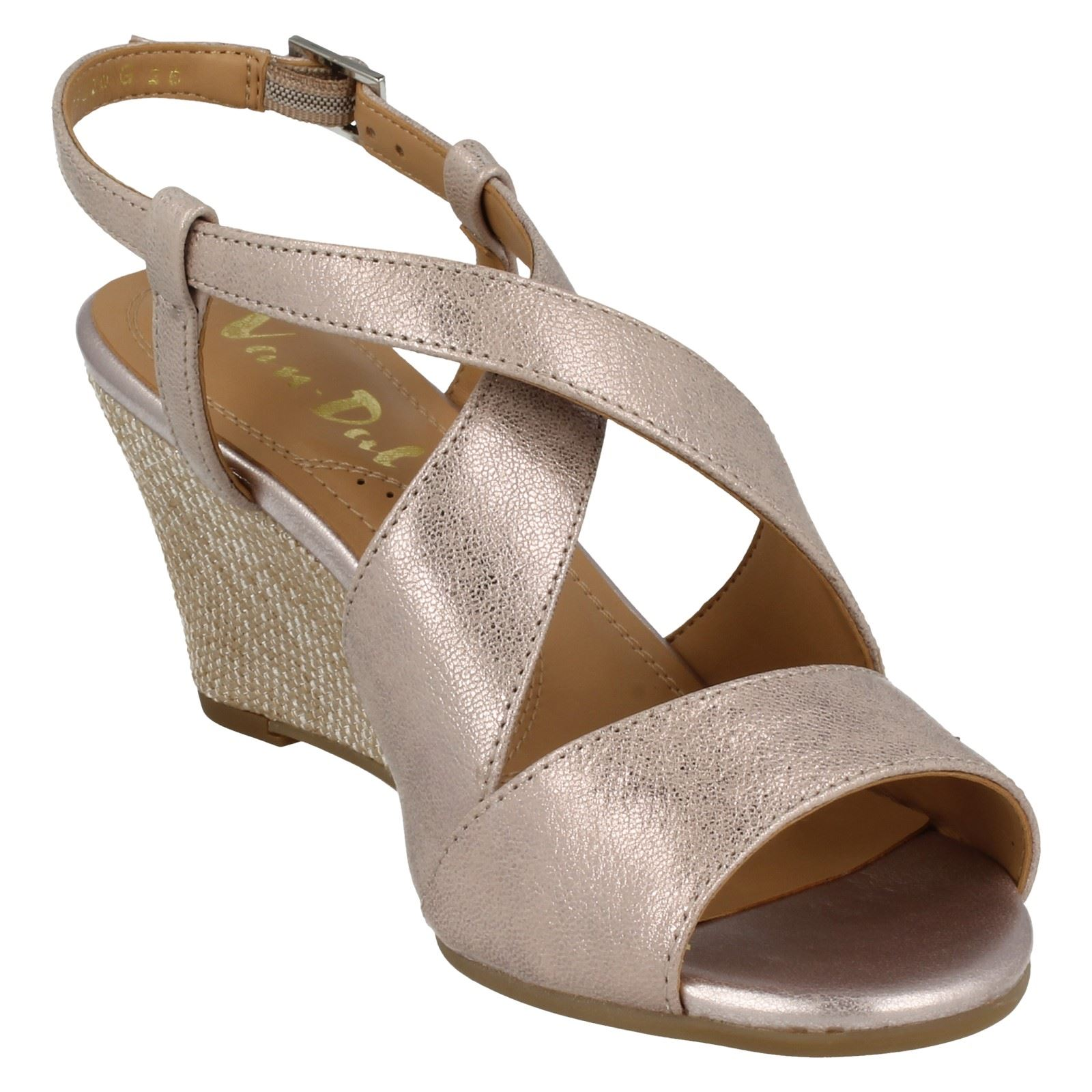 Ladies-Van-Dal-Cross-Strap-Wedged-Sandal-Allora thumbnail 7