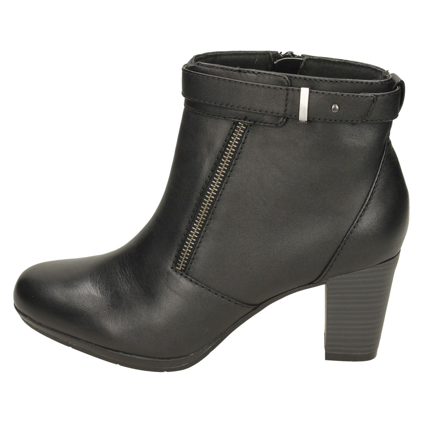 Casual Gillian Clarks Stivaletti Black con Ladies Kalea tacco 4FA16wR8q