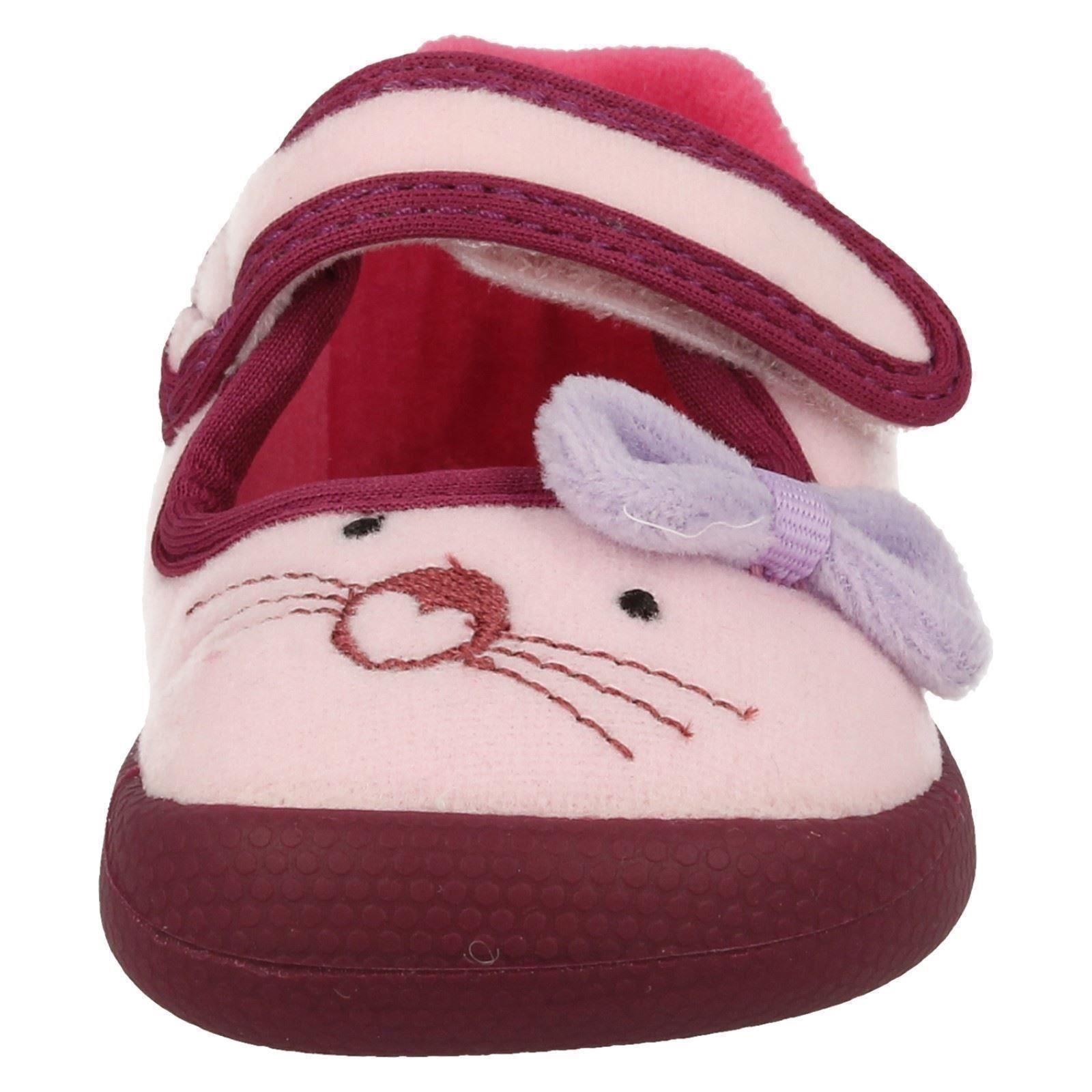 Infant Girls Clarks Machine Washable Slippers Shilo Candy