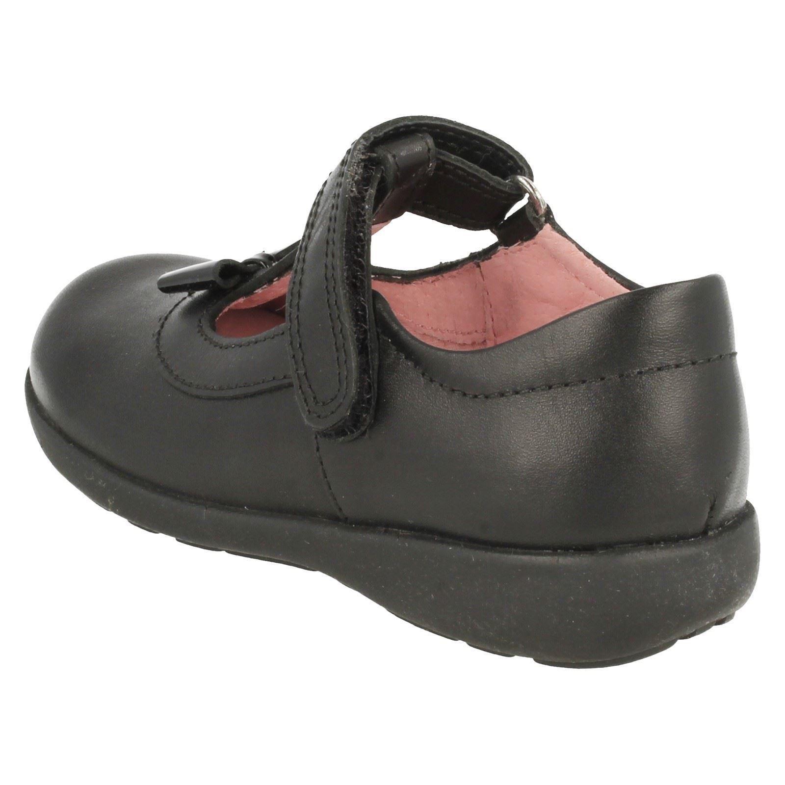 Infant-Girls-Startrite-Hook-amp-Loop-T-Bar-Patent-Leather-School-Shoes-Alpha