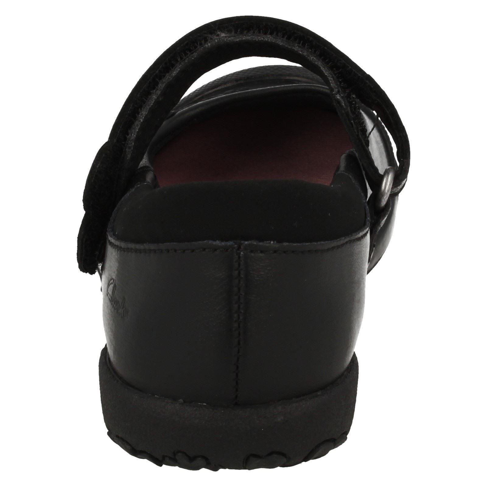 Clarks escuela Nibbles de Niñas la formal Binkies Sam Negro zapatos x1ddw0Xq