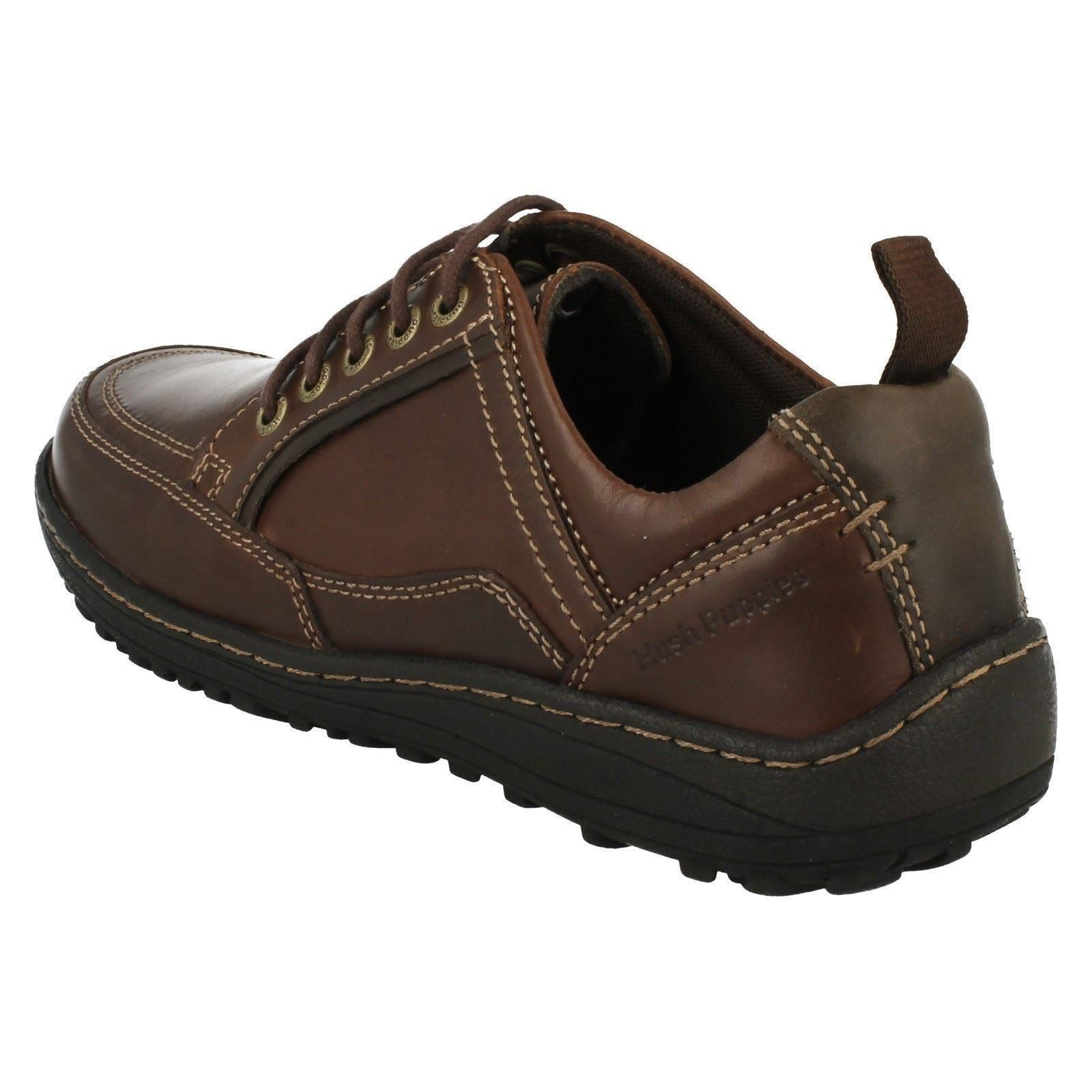 mens hush puppies rounded toe lace up shoes belfast