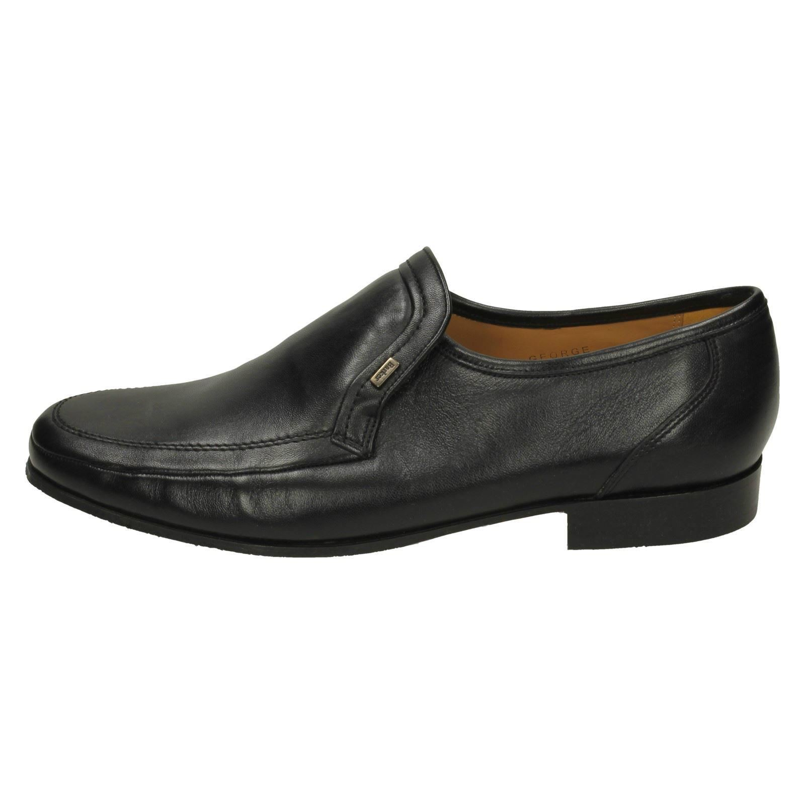 Shoes On Nappa Barker Mens Slip nero George Black t6WzWZnqw