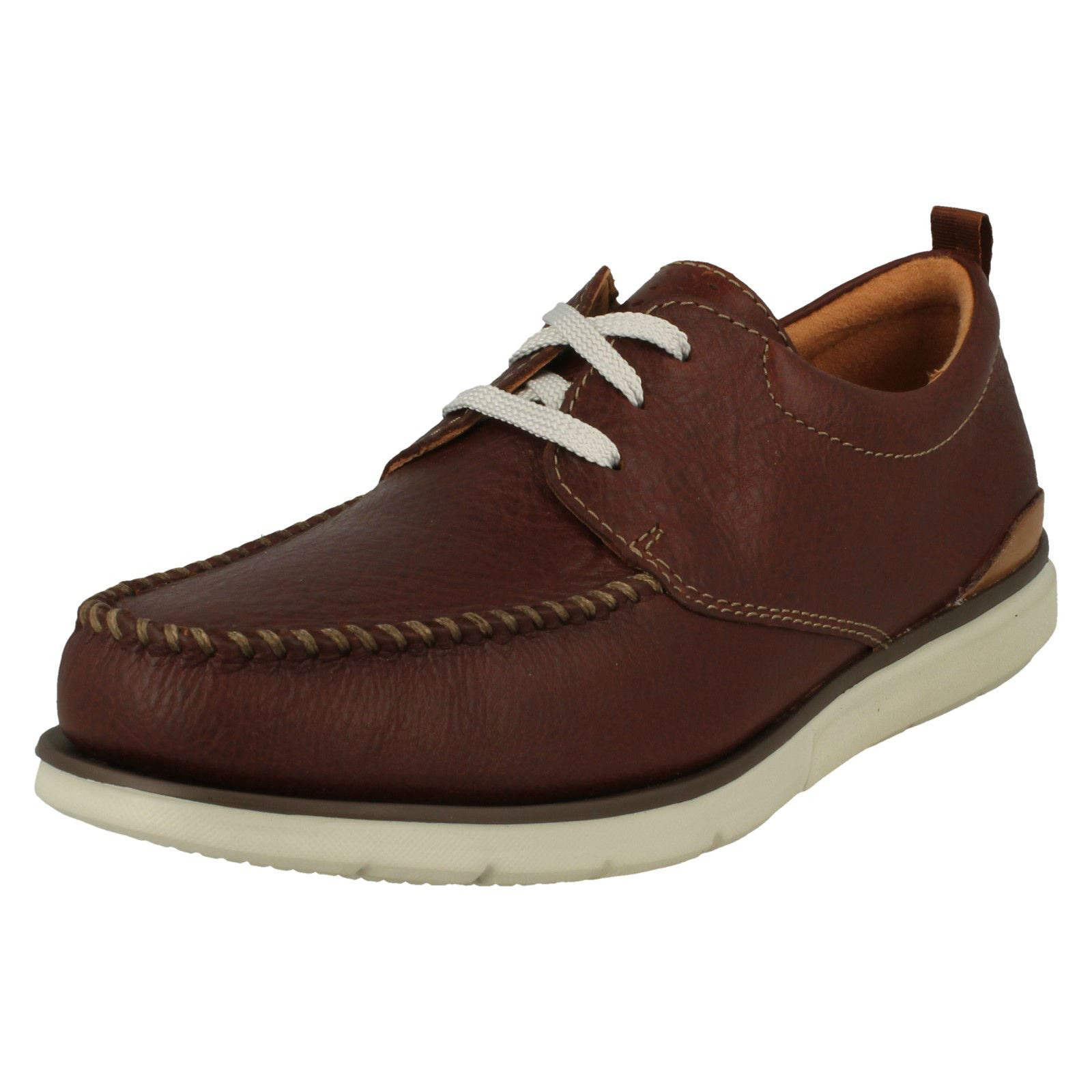 Mens Clarks Casual Lace Up Shoes Edgewood Mix