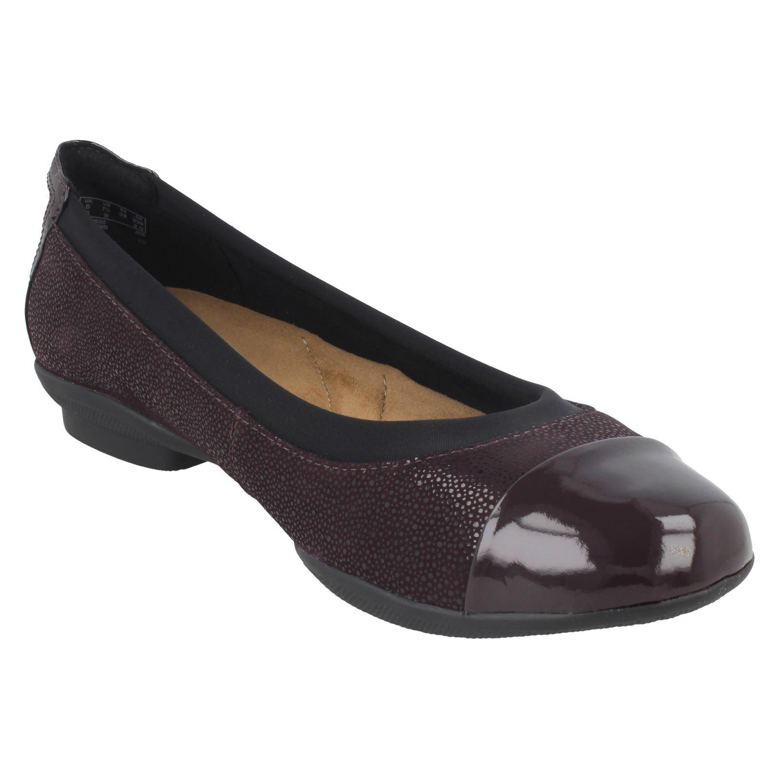 Ladies Clarks Neenah Neenah Neenah Garden Ballerina Flats 8b4c89