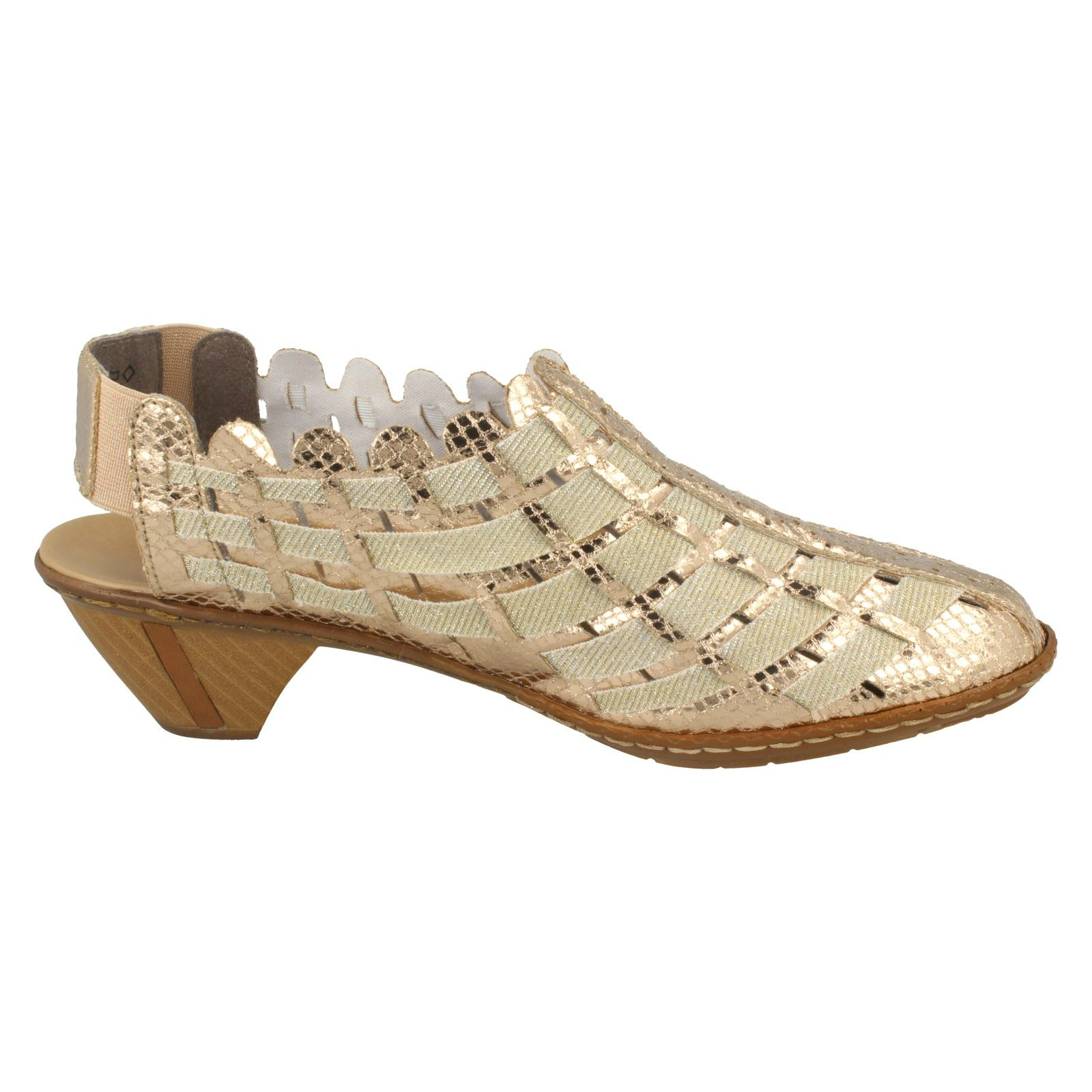 Damenschuhe With Rieker Sling Back Schuhes With Damenschuhe Woven Detail 46778 b901bc