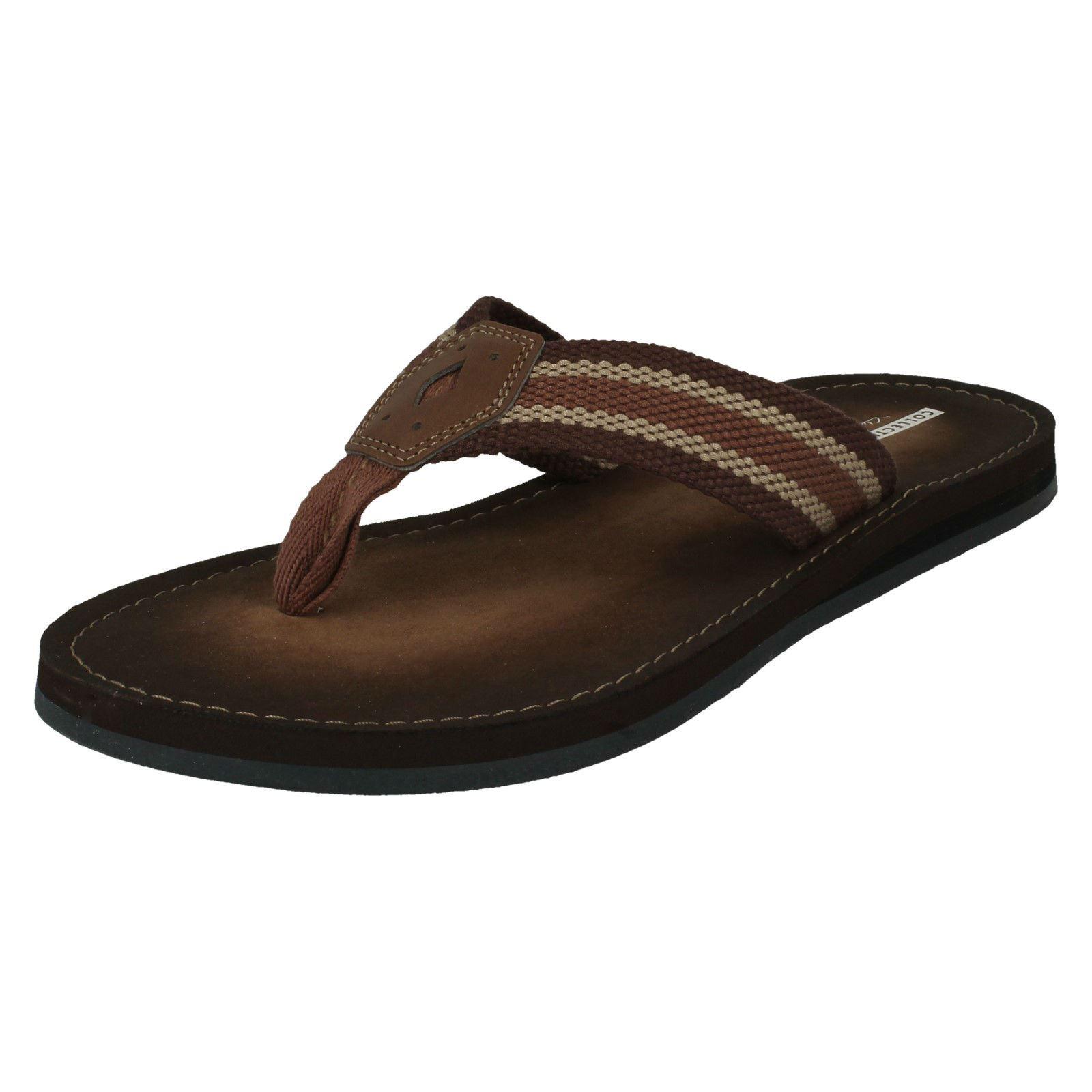 Clarks hombres para casual sobre Sandals Sun hombre Everday textil Lacono para Brown Summer Deslizamiento Calzado wgXtqw