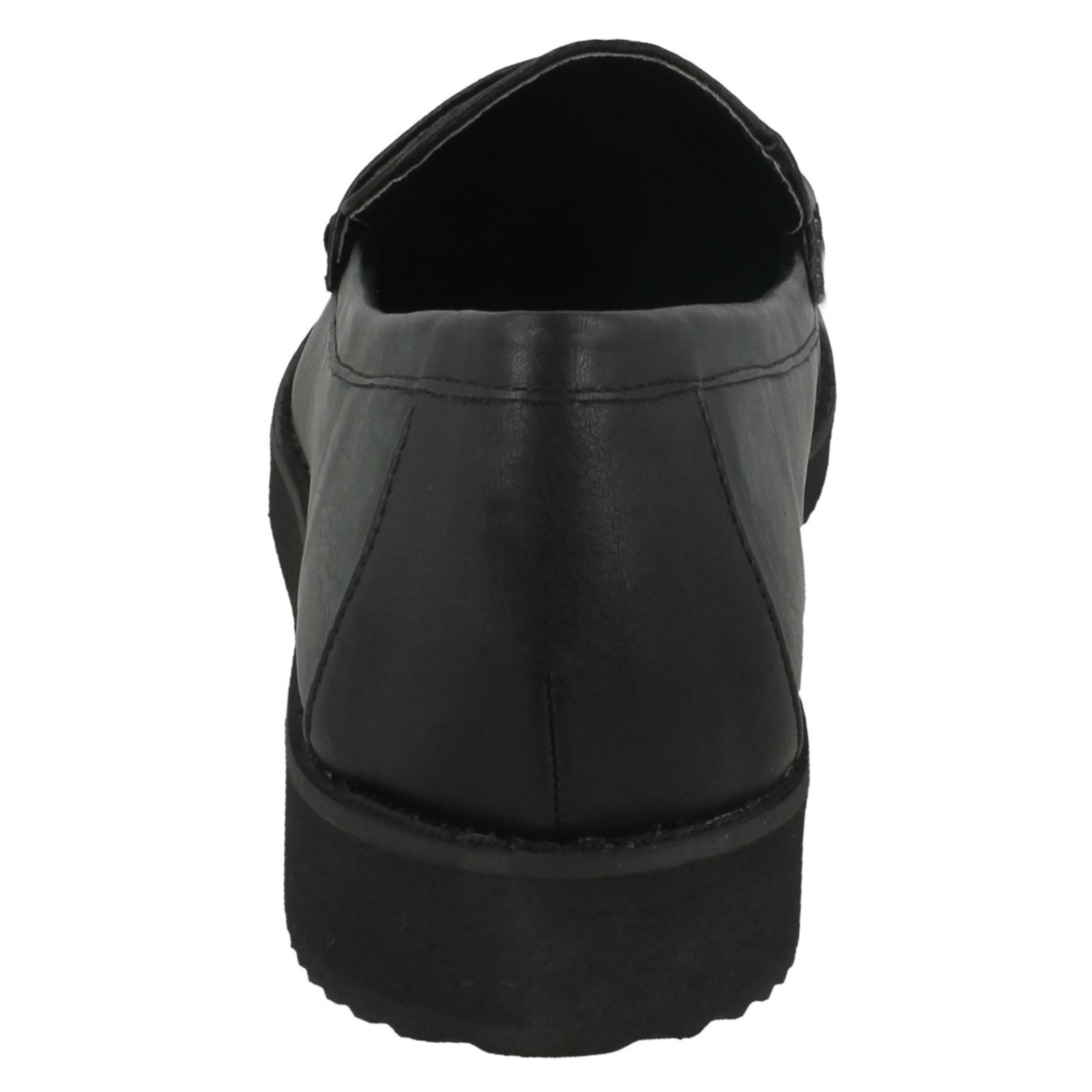 Ladies Spot On Saddle Trim Thick Sole /'Shoe/'