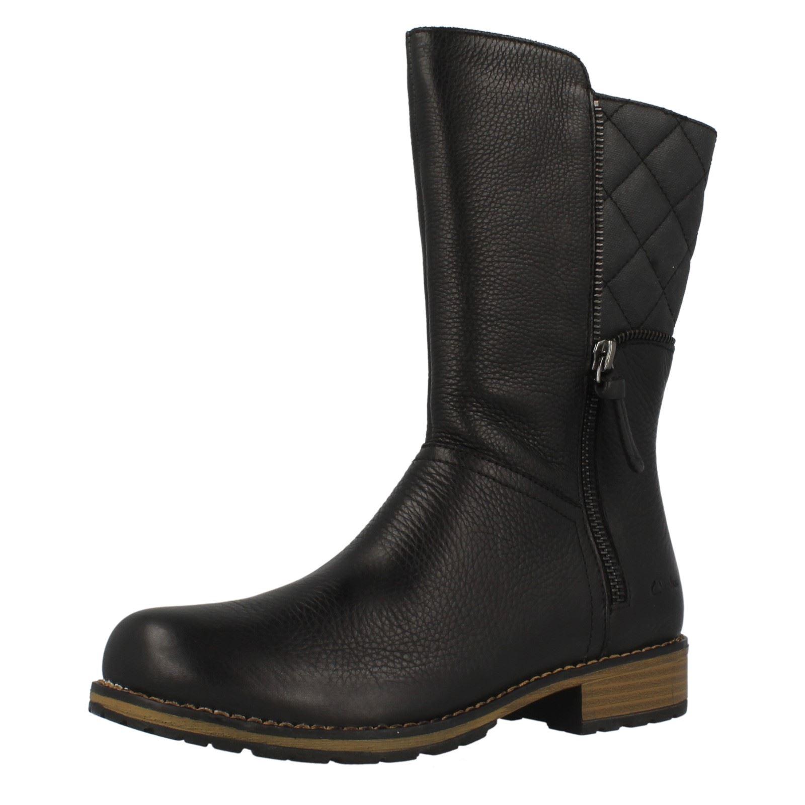Niñas Black 'kelpie Mid Clarks Heidi' Boots Calf Axpwv4rA