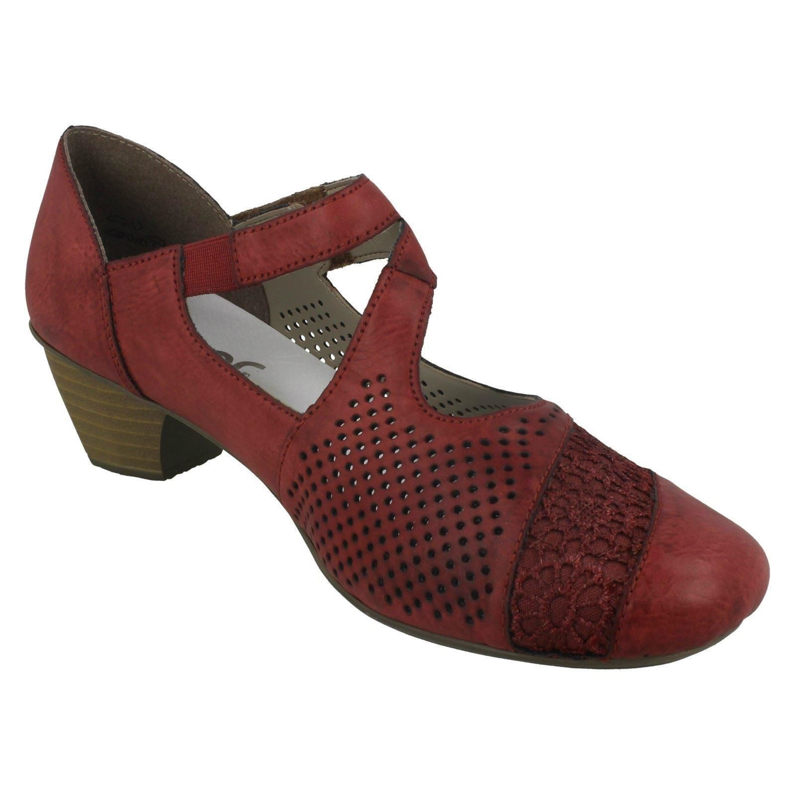 Rieker 41743 35 Dark Red Mary Jane Shoes
