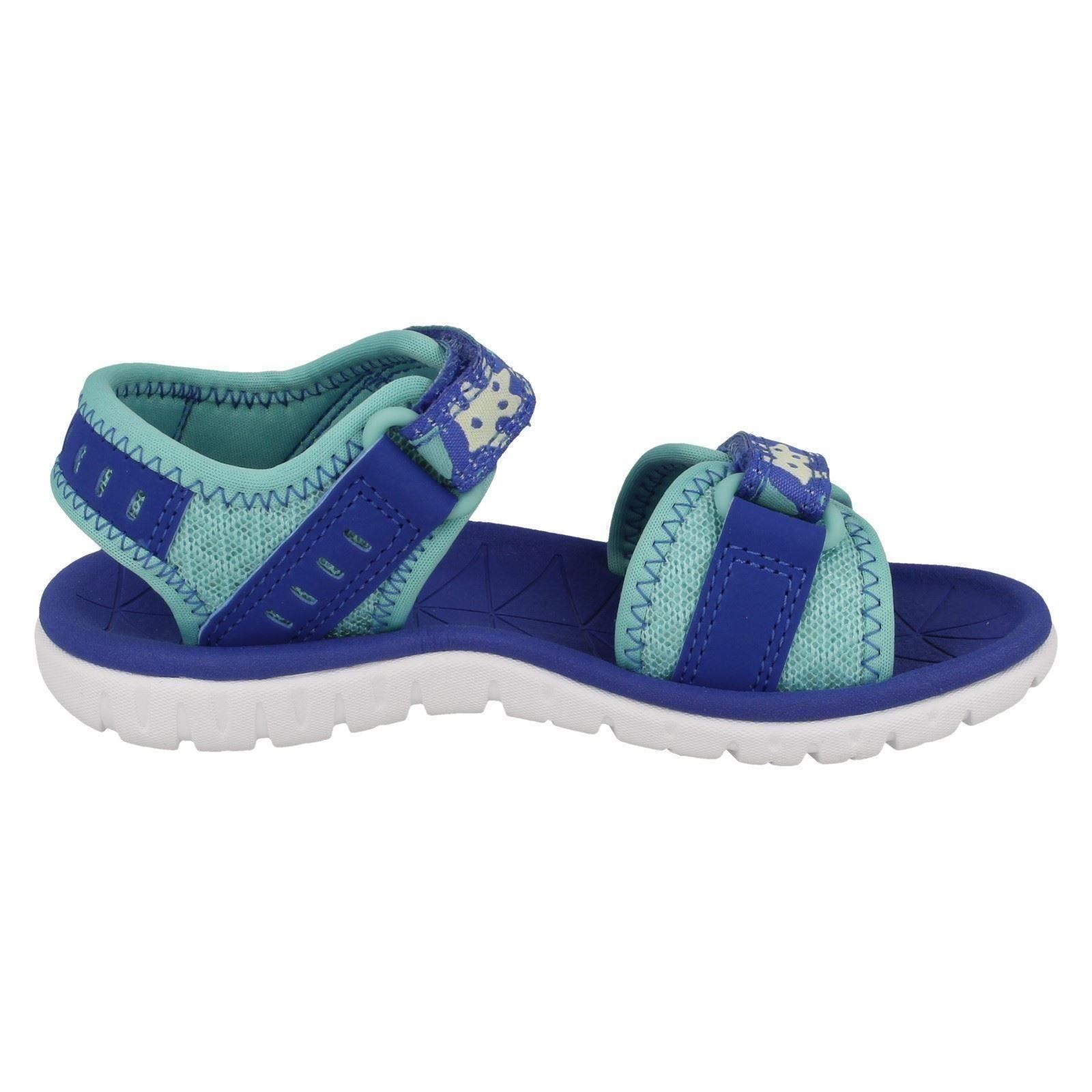 blu Aqua Skies Sandals Surfing Casual Clarks Girls XqxwYBY