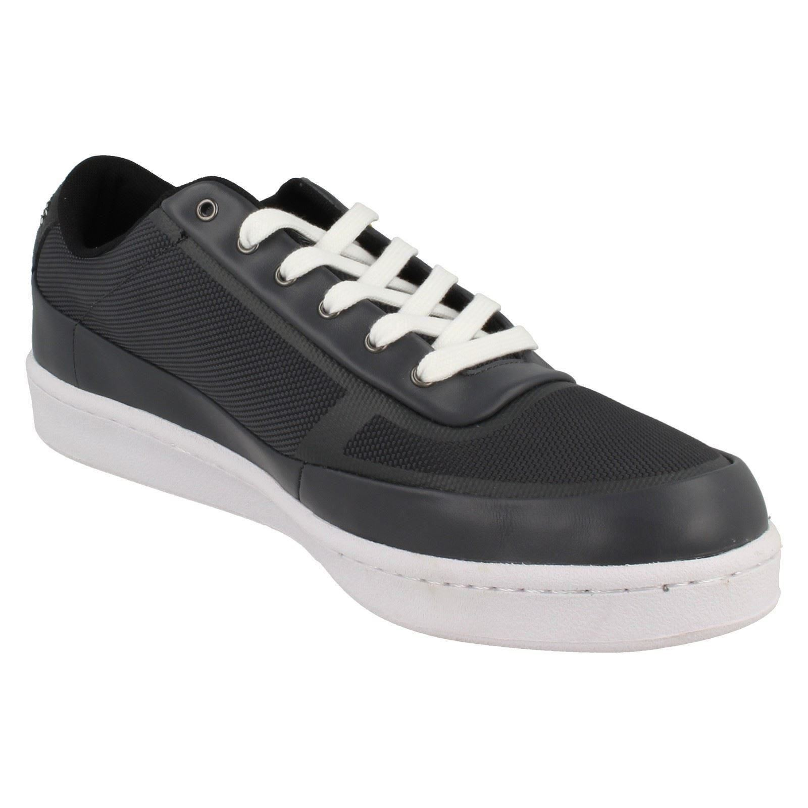 Mens Lacoste Court Line Casual Trainers Lace Up Trainers Casual 30e794