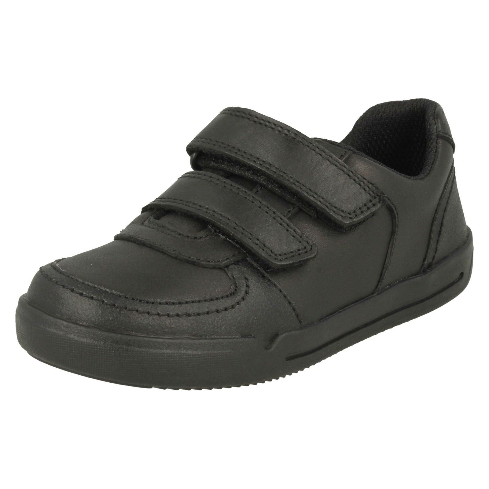 wholesale popular stores outlet Details about Boys Clarks Hook & Loop Fastening Leather School Shoes -  'Mini Racer'