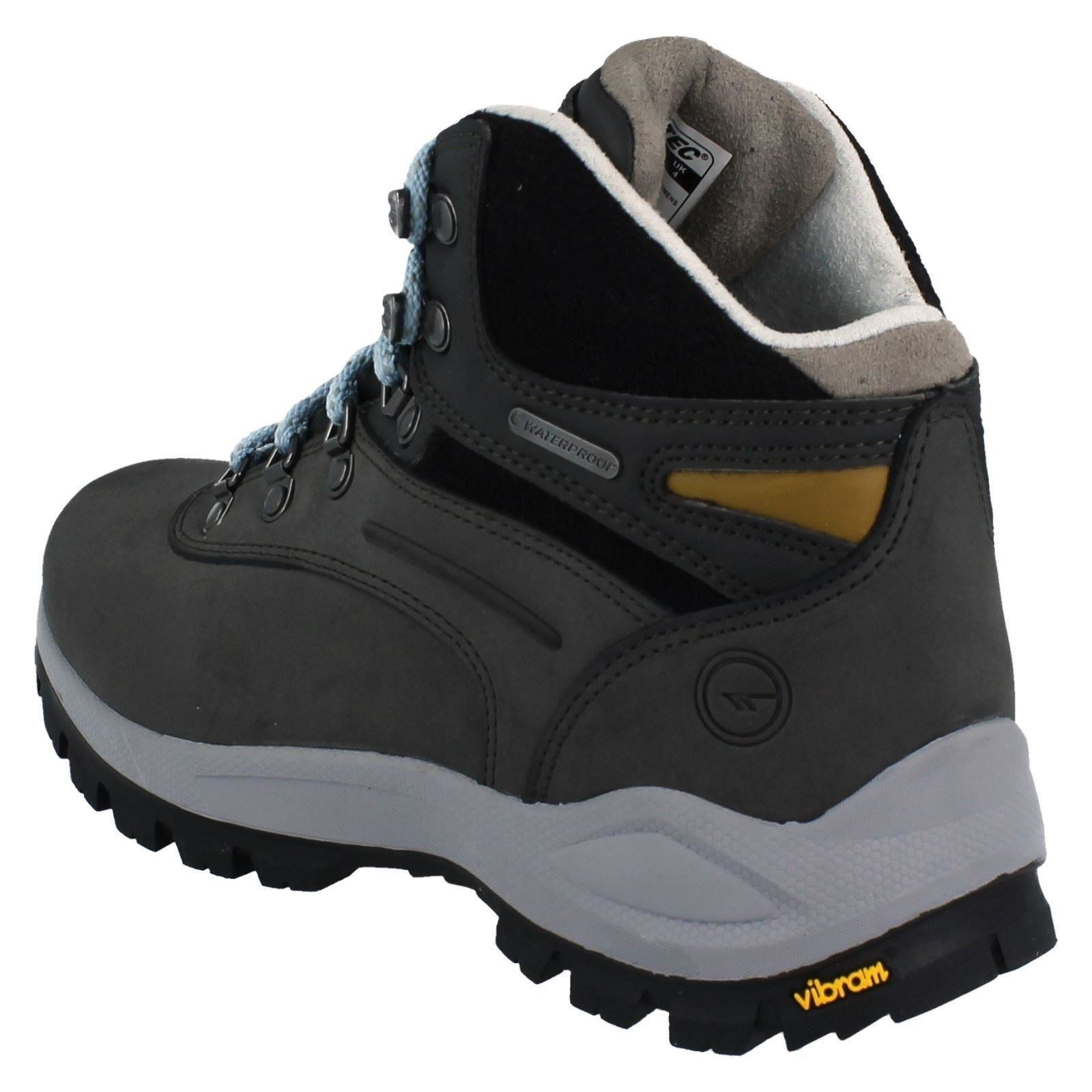 Hi-Tec Ladies Waterproof Walking Boots - Altitude Alpyna I WP Womens Charcoal/Forget Me Not (Grey)