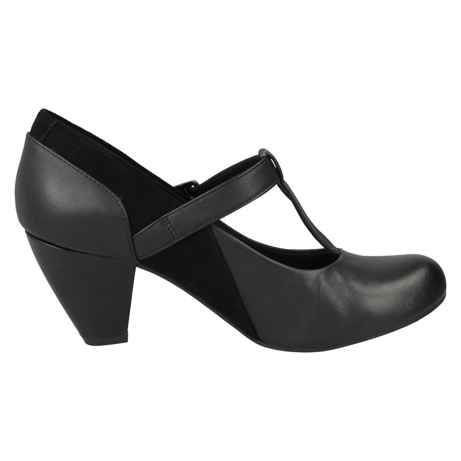 Clarks Ladies T-Bar Smart Shoes Coolest Lass