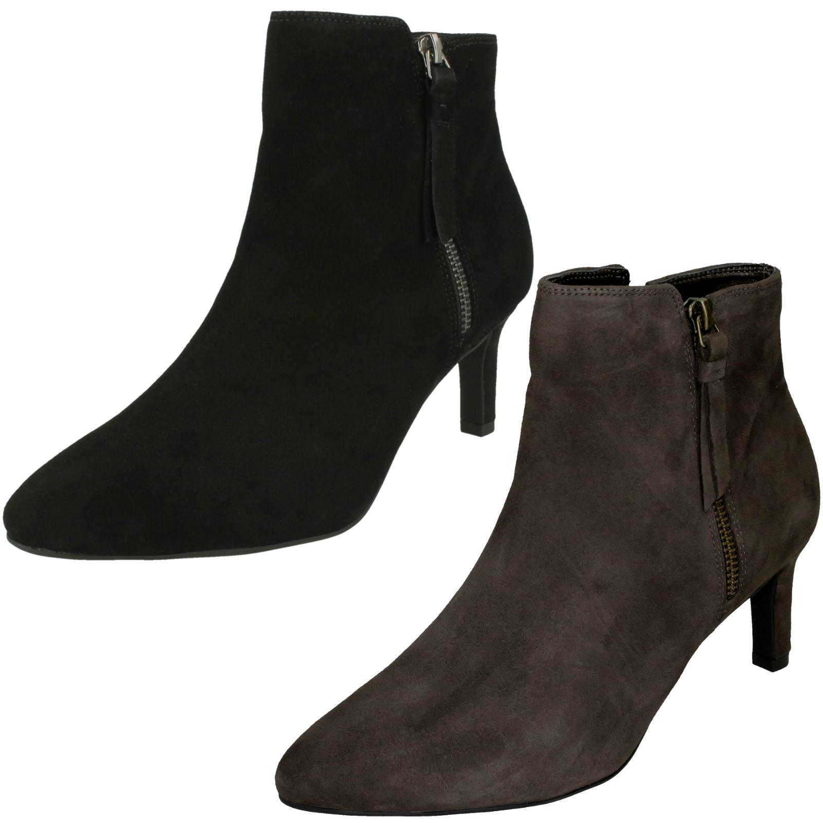 einzigartiges Design am besten authentisch kommt an Details about Ladies Clarks Heeled Ankle Boots 'Calla Blossom'
