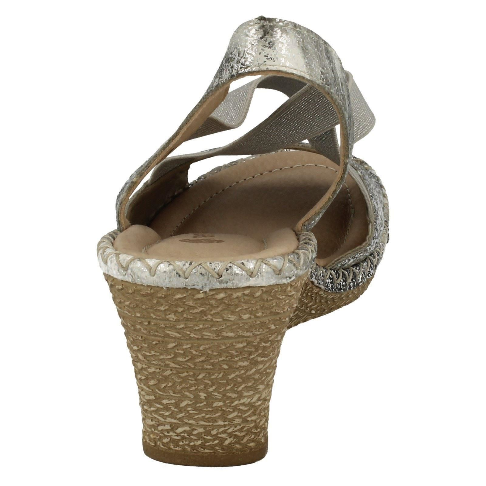Slip con Ladies Toe On Strap Remonte estiva Open Sandali D6732 sintetica X Argento argento zeppa platino q8xwf8rAX