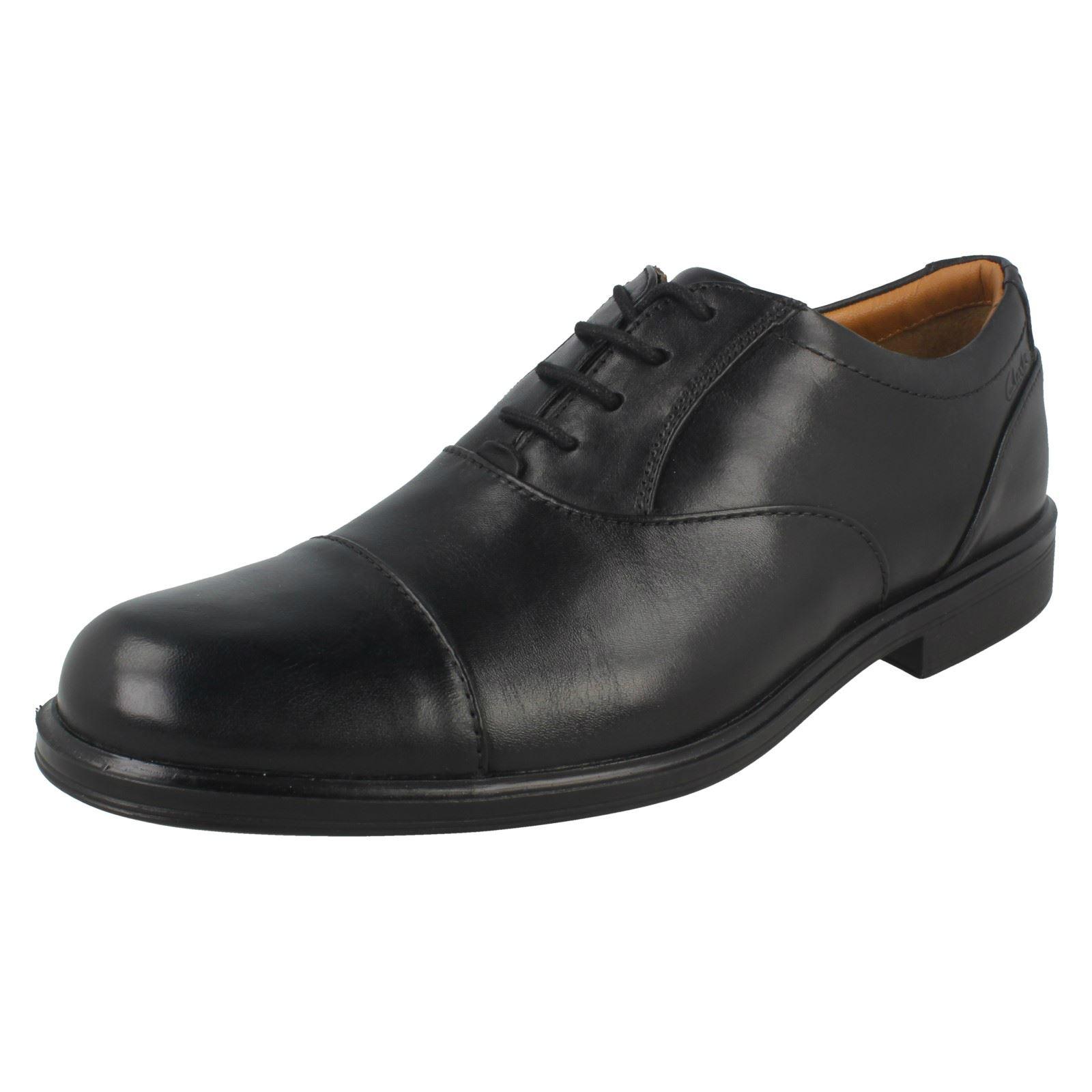 Black Oxford Gabson para con Clarks Cap cordones hombre Zapatillas qwvS8
