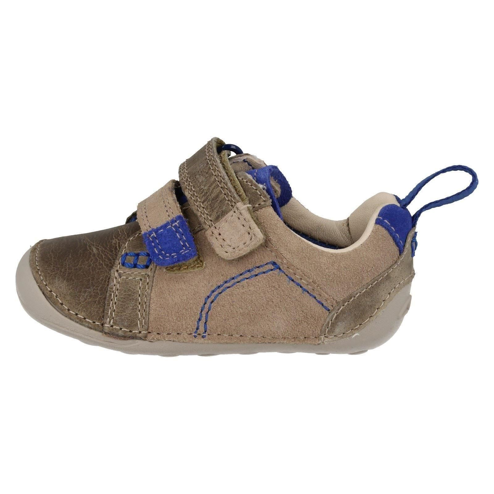 Boys Clarks Hook & Loop Cruiser Shoes Tiny Soft