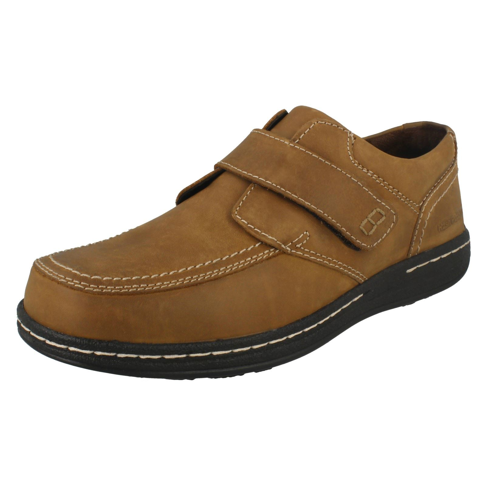 Herren Hush Schuhes Puppies Wide/Large Casual Hook & Loop Leder Schuhes Hush Vince Victory 966b67