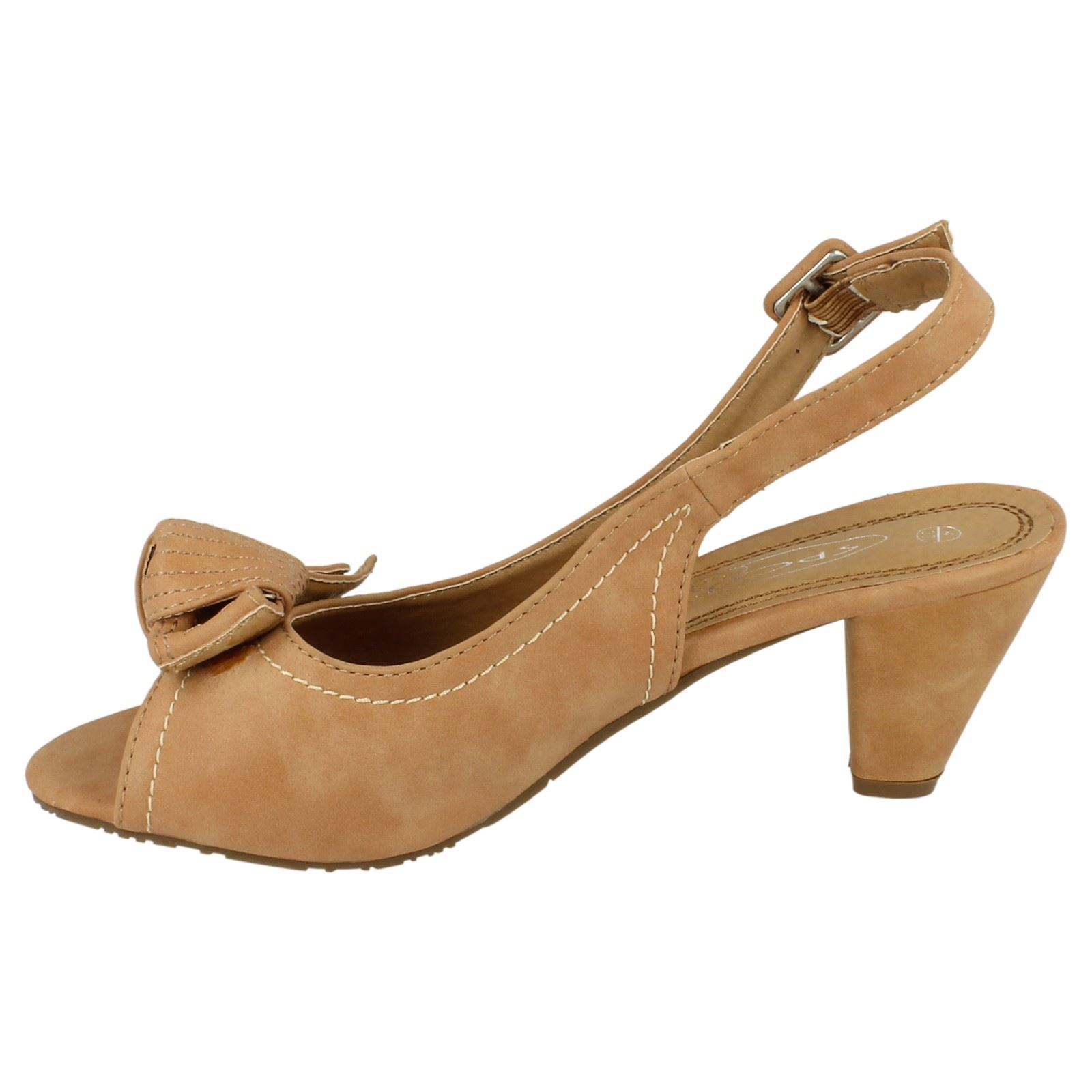 Damas Spot On Tacón Alto Peep Toe Sandalia