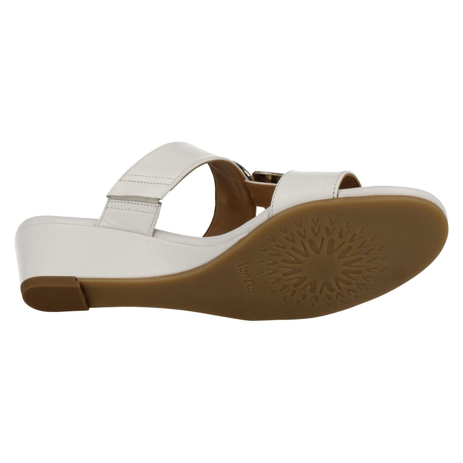 Ladies-Van-Dal-Open-Toe-Slip-On-Summer-Low-Wedge-Leather-Sandals-Epsom thumbnail 10