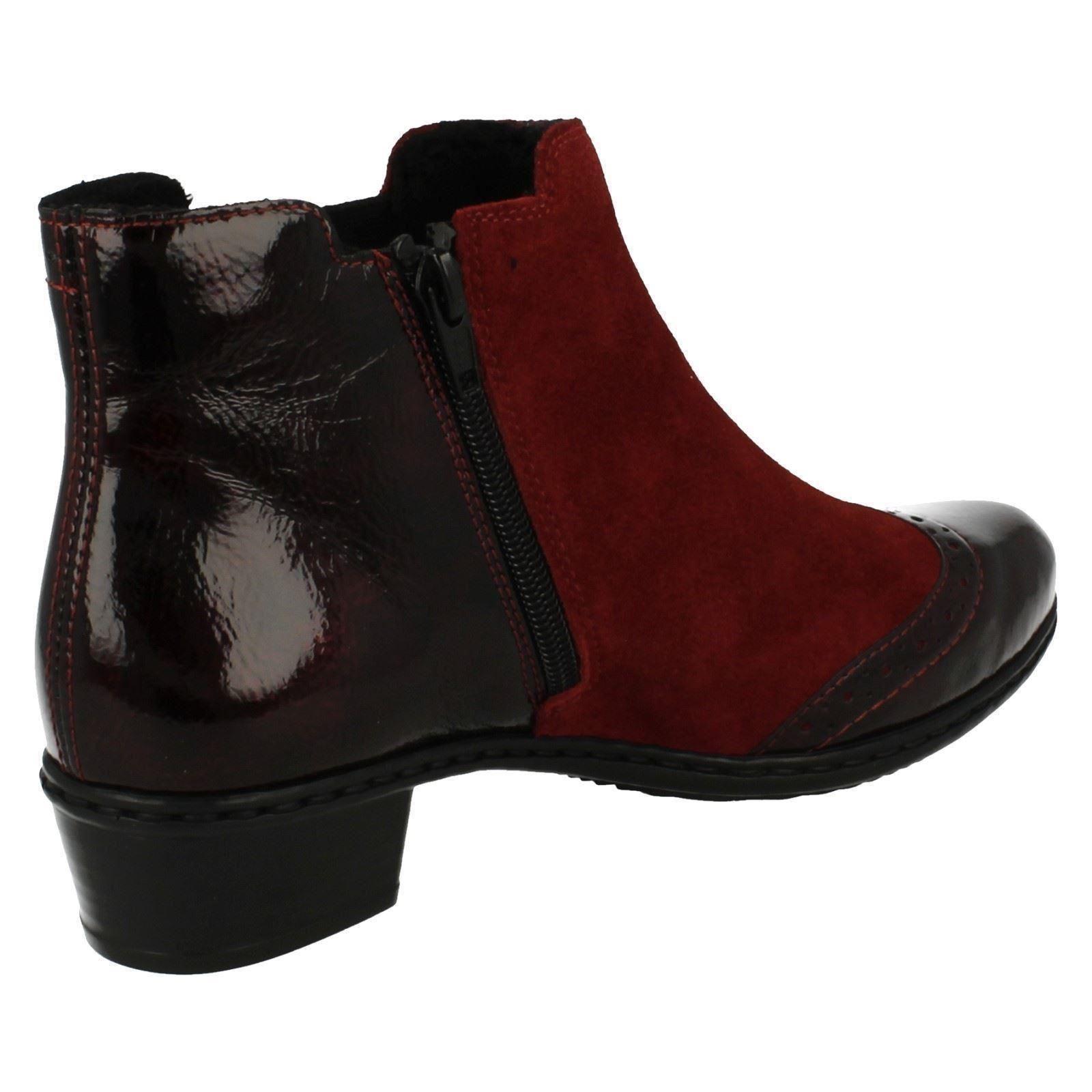 Bottines pour Y0743 Combi Femme Rieker Smart Rouge 6qwA6r