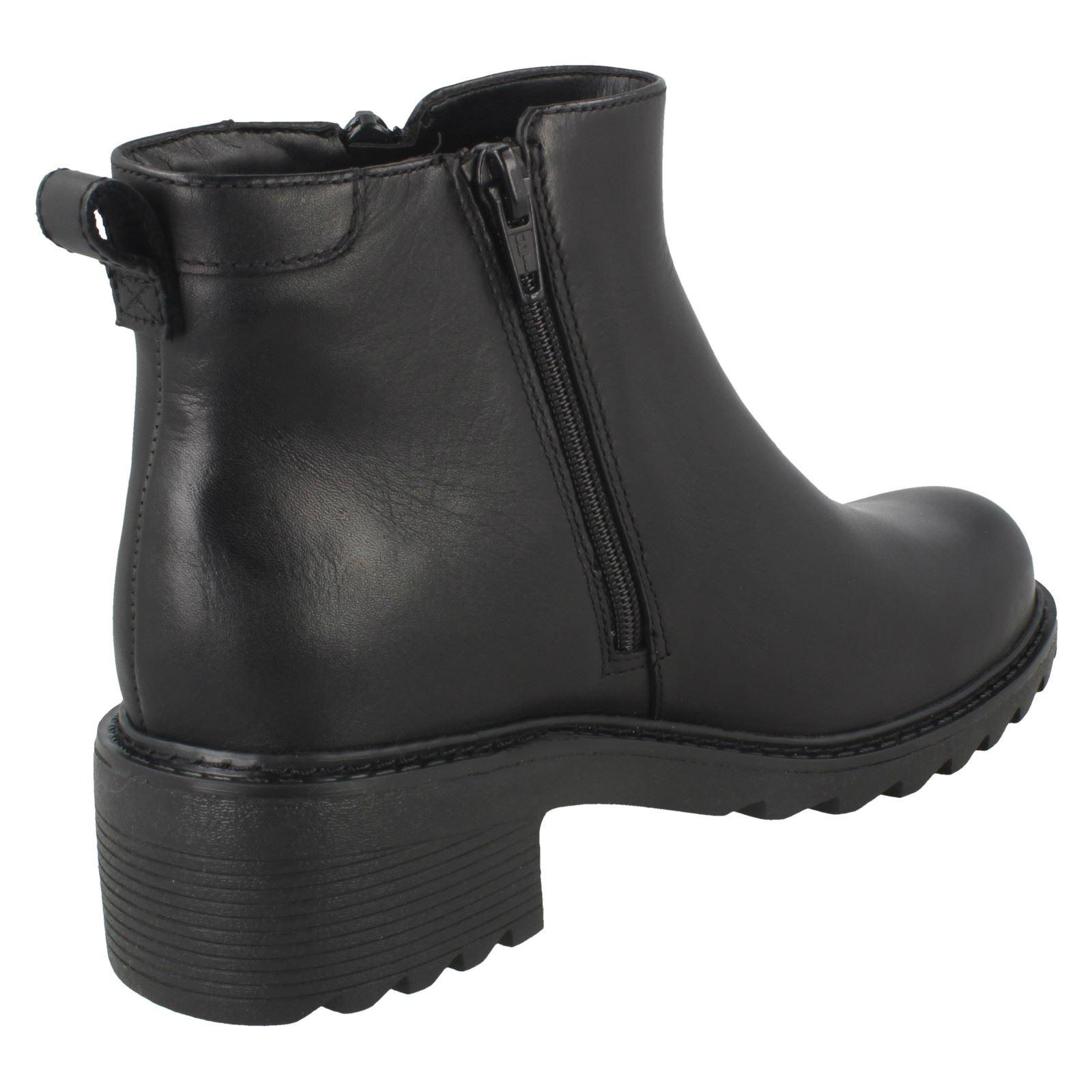 Girls Clarks Zip Up Casual Boots Frankie Roam