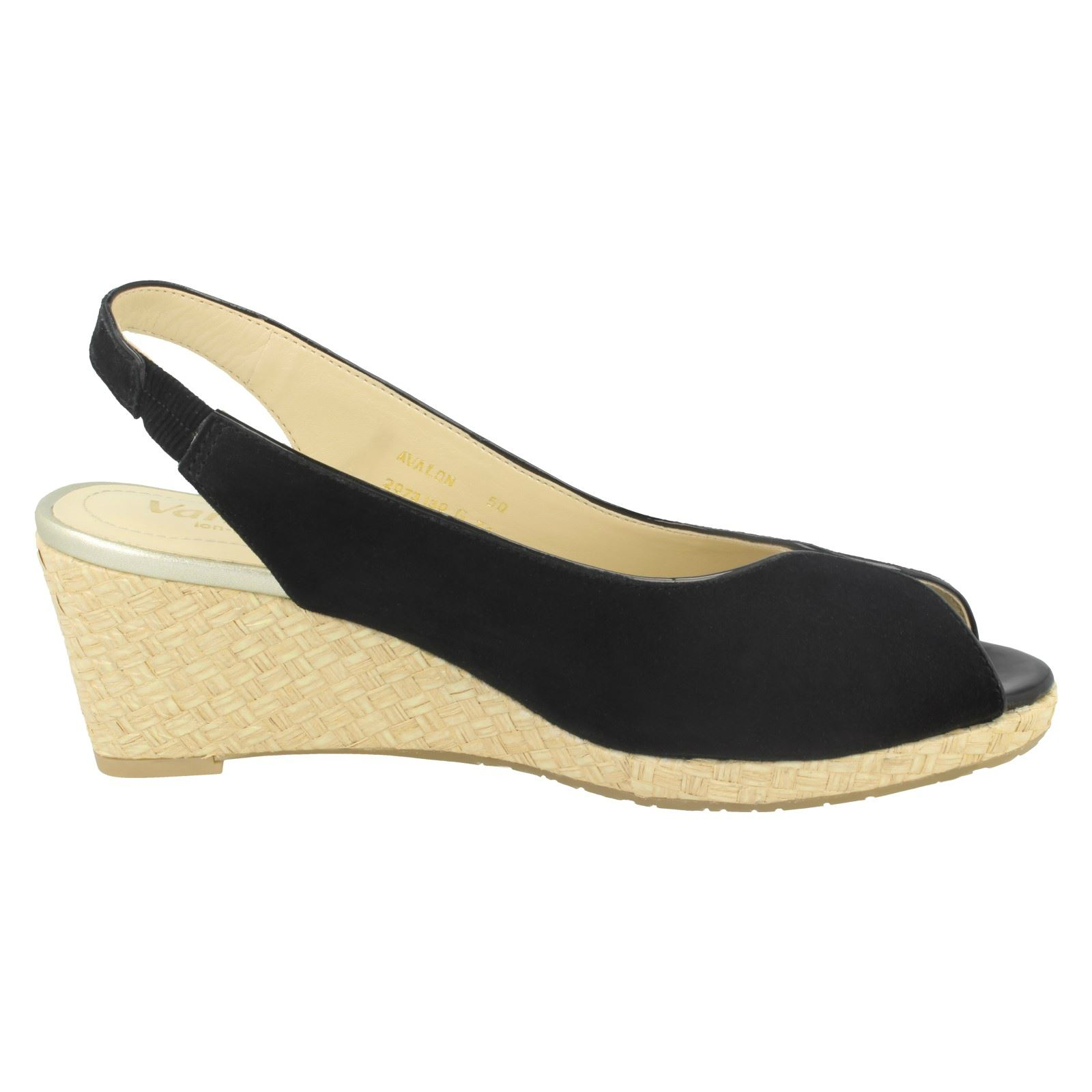 Ladies-Van-Dal-Leather-Wedge-Sandal-With-Woven-Detail-Avalon thumbnail 7