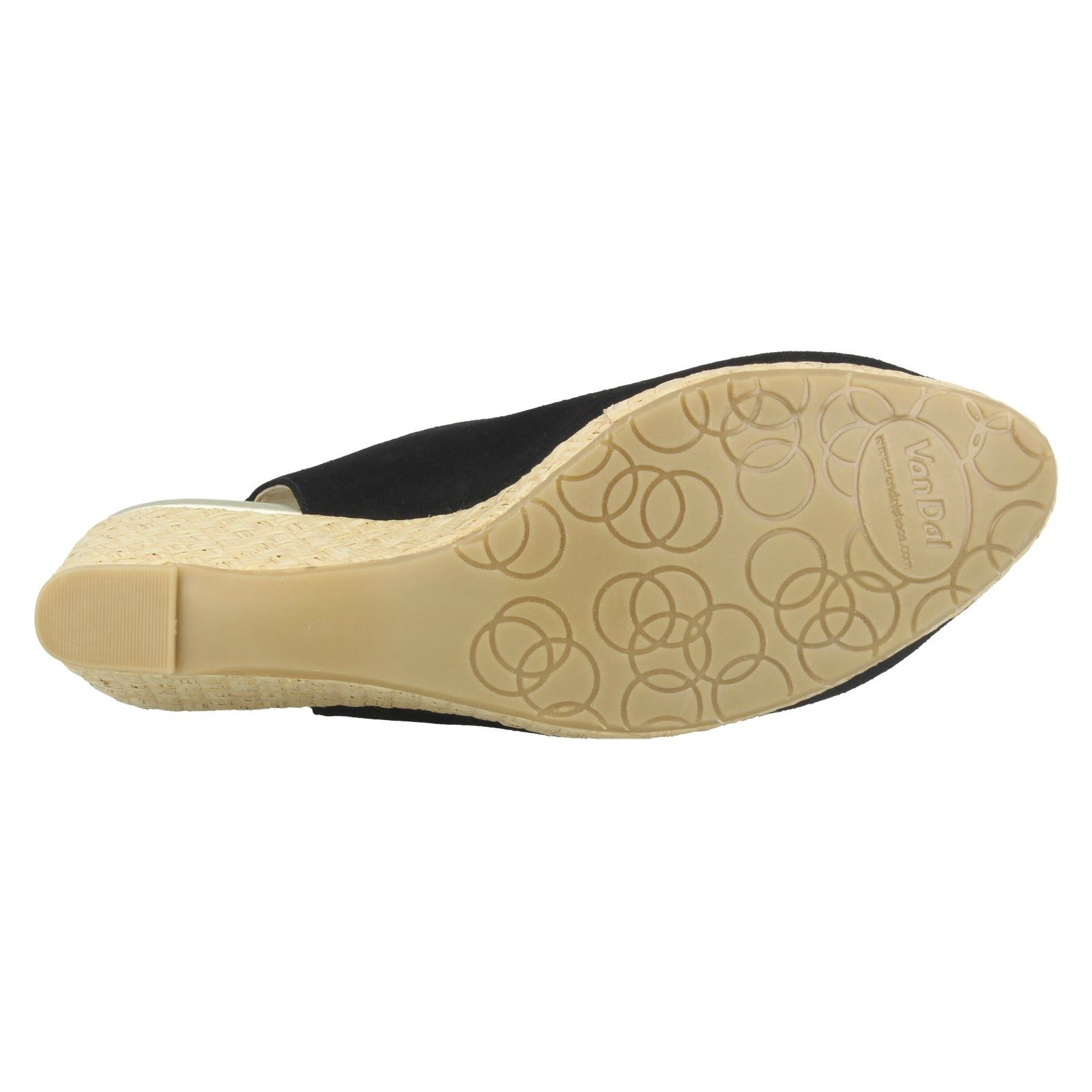 Ladies-Van-Dal-Leather-Wedge-Sandal-With-Woven-Detail-Avalon thumbnail 8