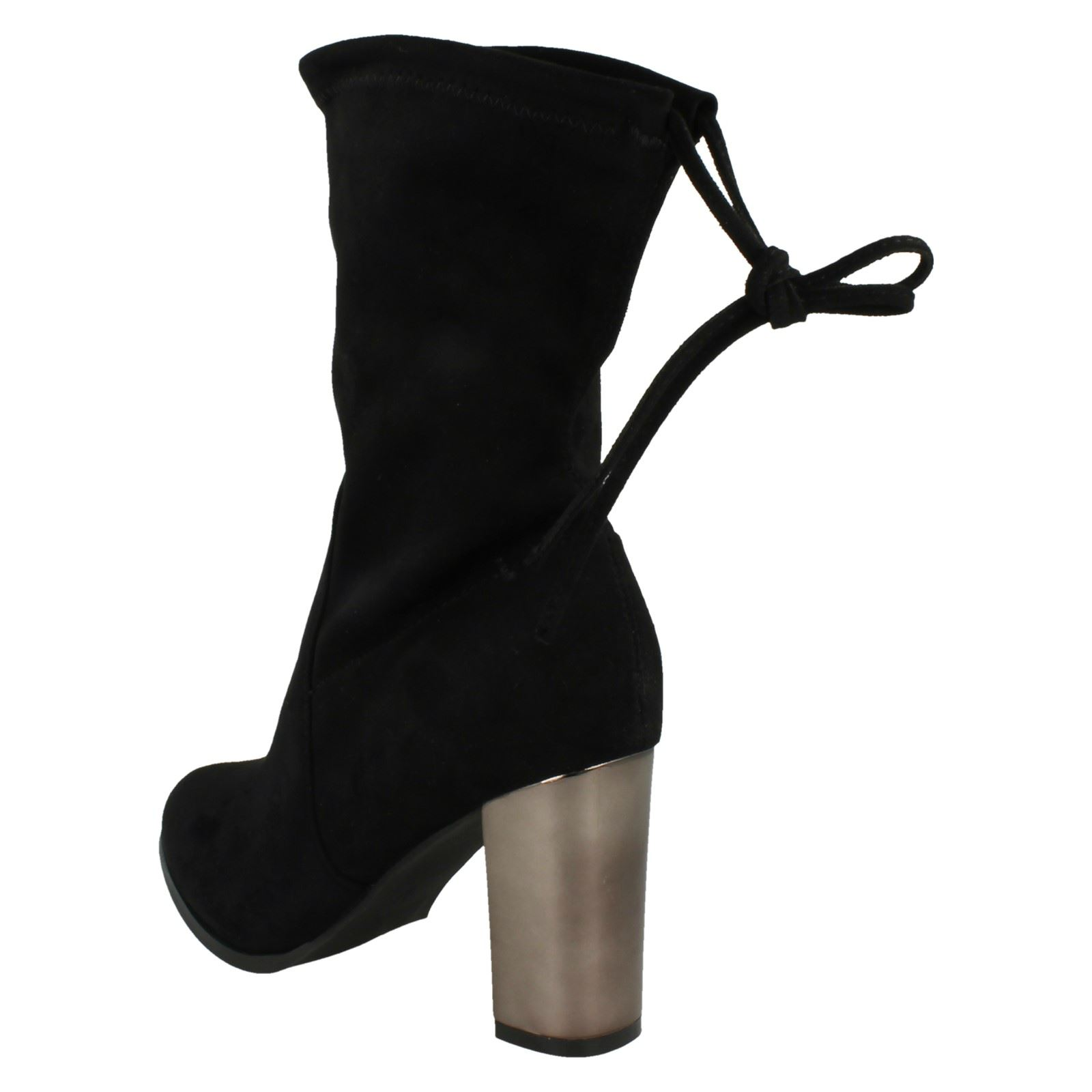 27ca3e3b40d8 Ladies Spot on Style 687 Stretchy Mid Calf Length BOOTS Black 5 UK  Standard. About this product. Picture 1 of 10  Picture 2 of 10  Picture 3  of 10  Picture ...