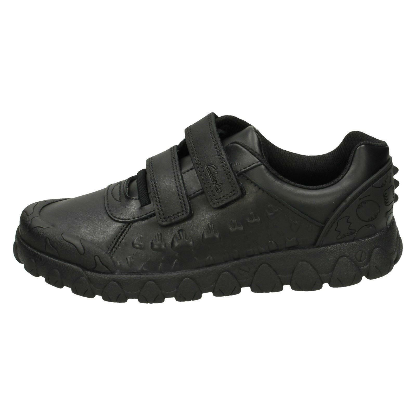 de para Black con Zapatos niños formales Tyrex escolares Ride dinosaurios Clarks temática qXRUX4