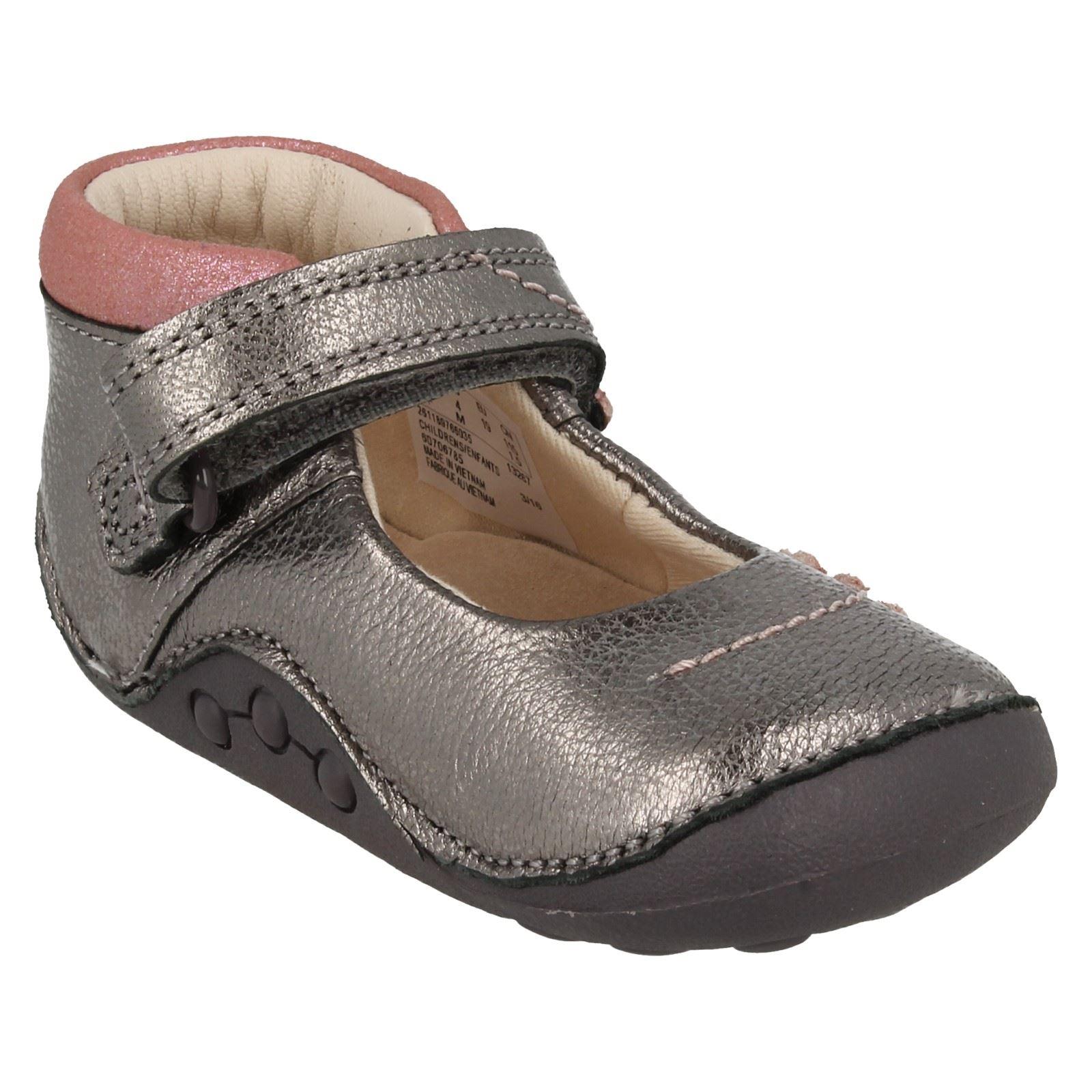 Nourrisson Filles Clarks Premier Chaussures Petit Fizzi