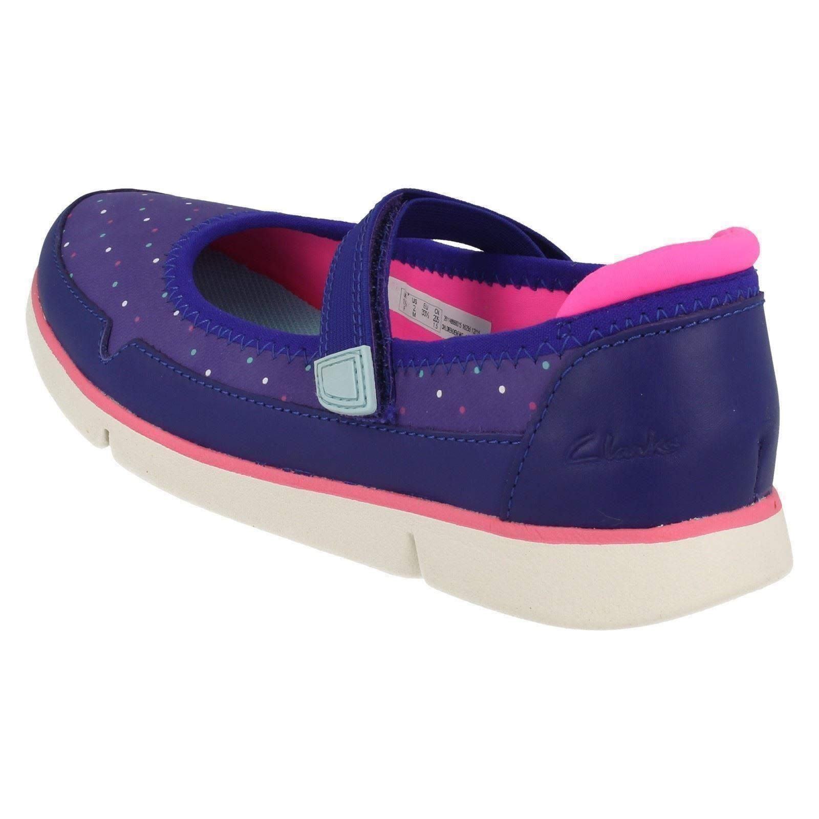 Chicas Clarks ligero Informal Zapatos Bitsey Tri