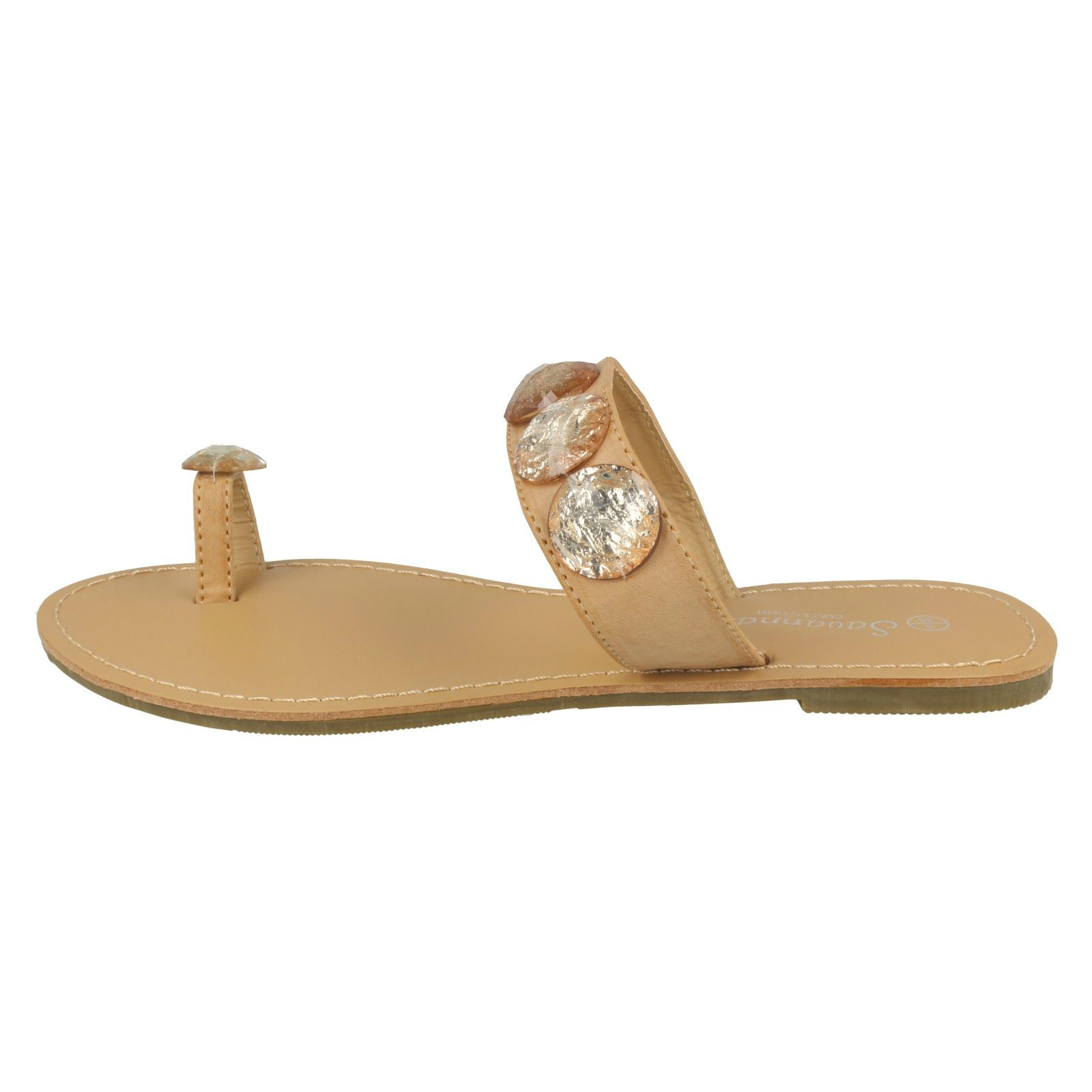 Damas Savannah Sandalias Planas Toe Loop -