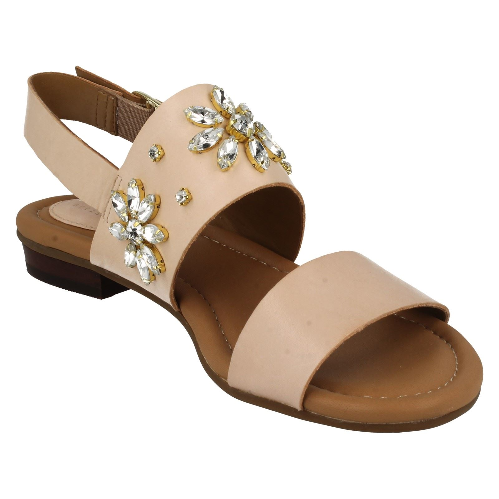 Señoras Clarks Bead Diseño Sandalias Viveca Melrose