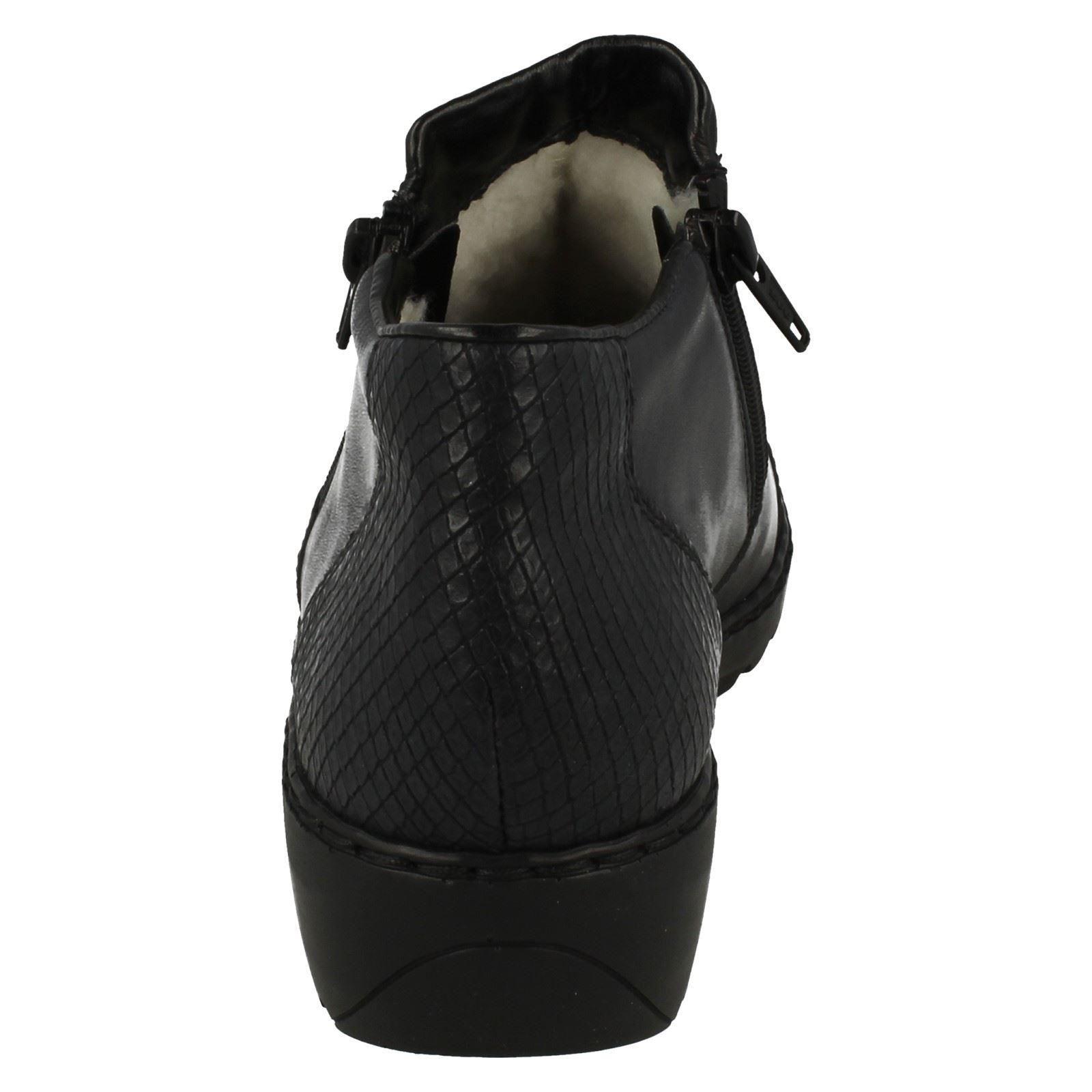 Ladies Boots Blue l6091 Ankle Warmlined Rieker rfwn6qtxvr