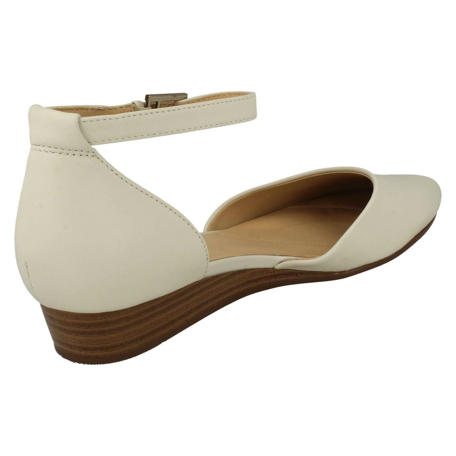 Mesdames Clarks Summer Wedge chaussures à talons sens Eva