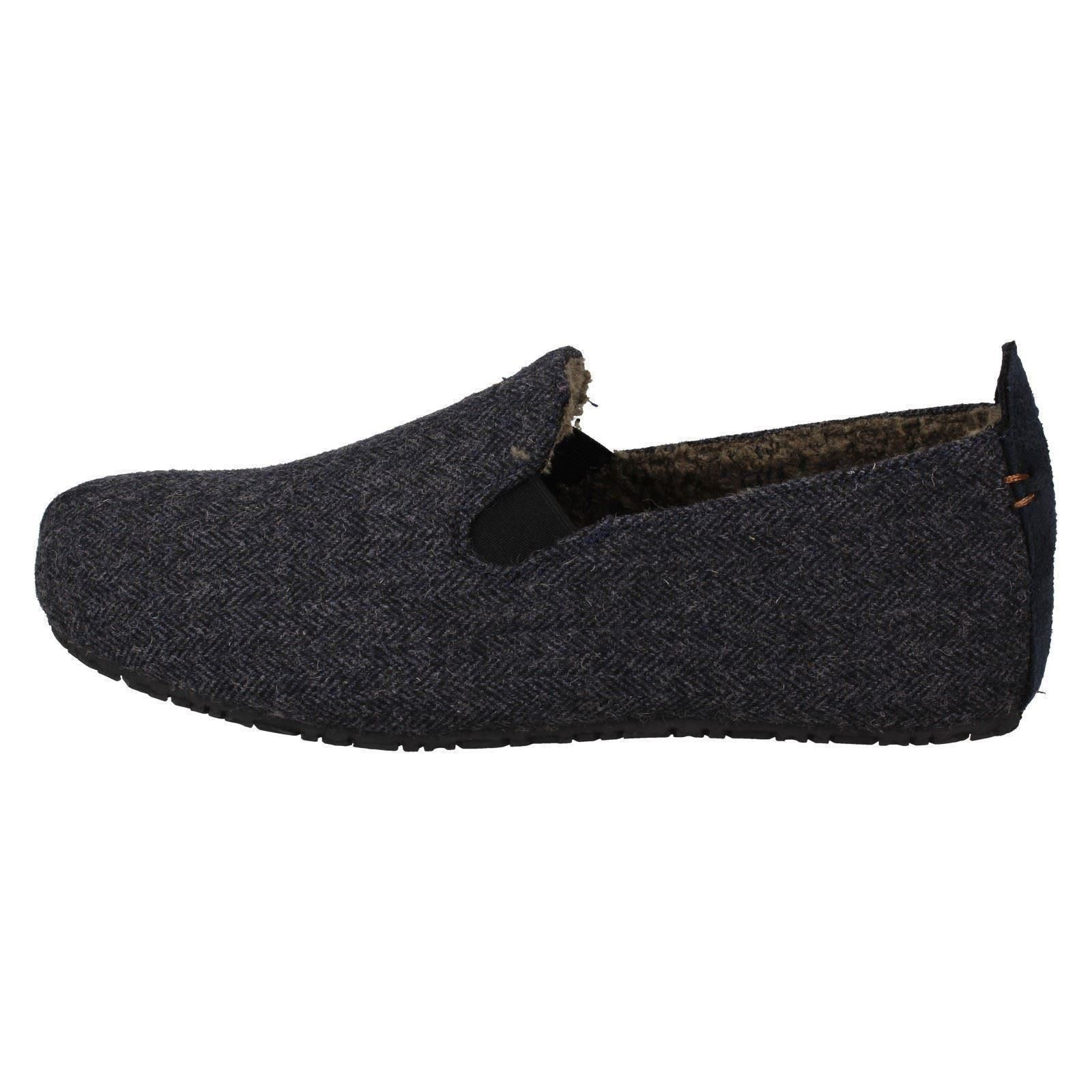 MENS CLARKS SUEDE SLIP ON FUR LINED WARM WINTER SLIPPERS SHOES SIZE KITE FALCON