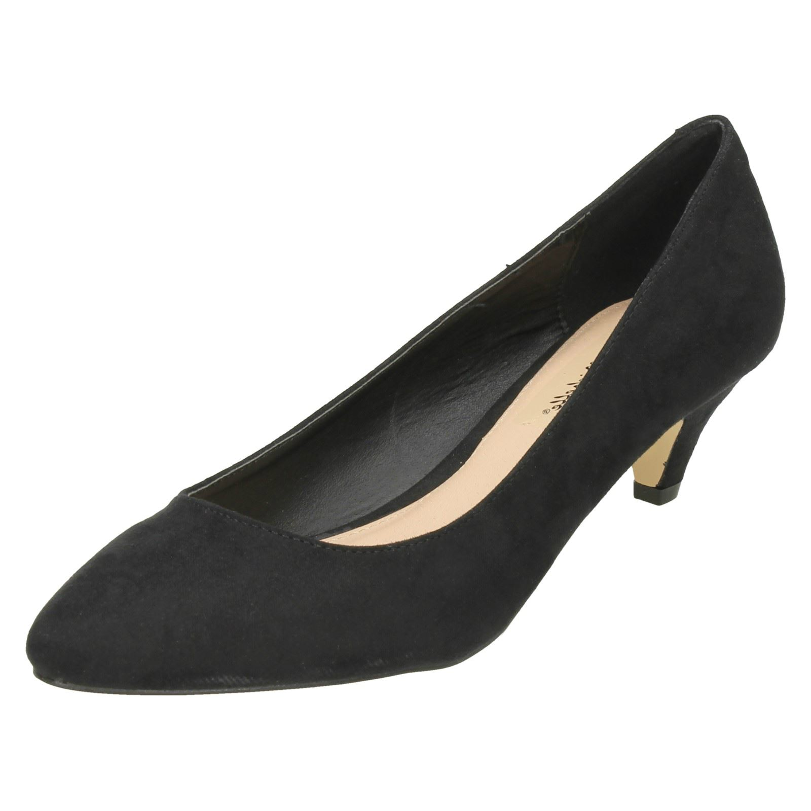 Anne Michelle Court Ladies Mid Heel Pointed Toe Court Michelle Shoes - F9965 fa71c6