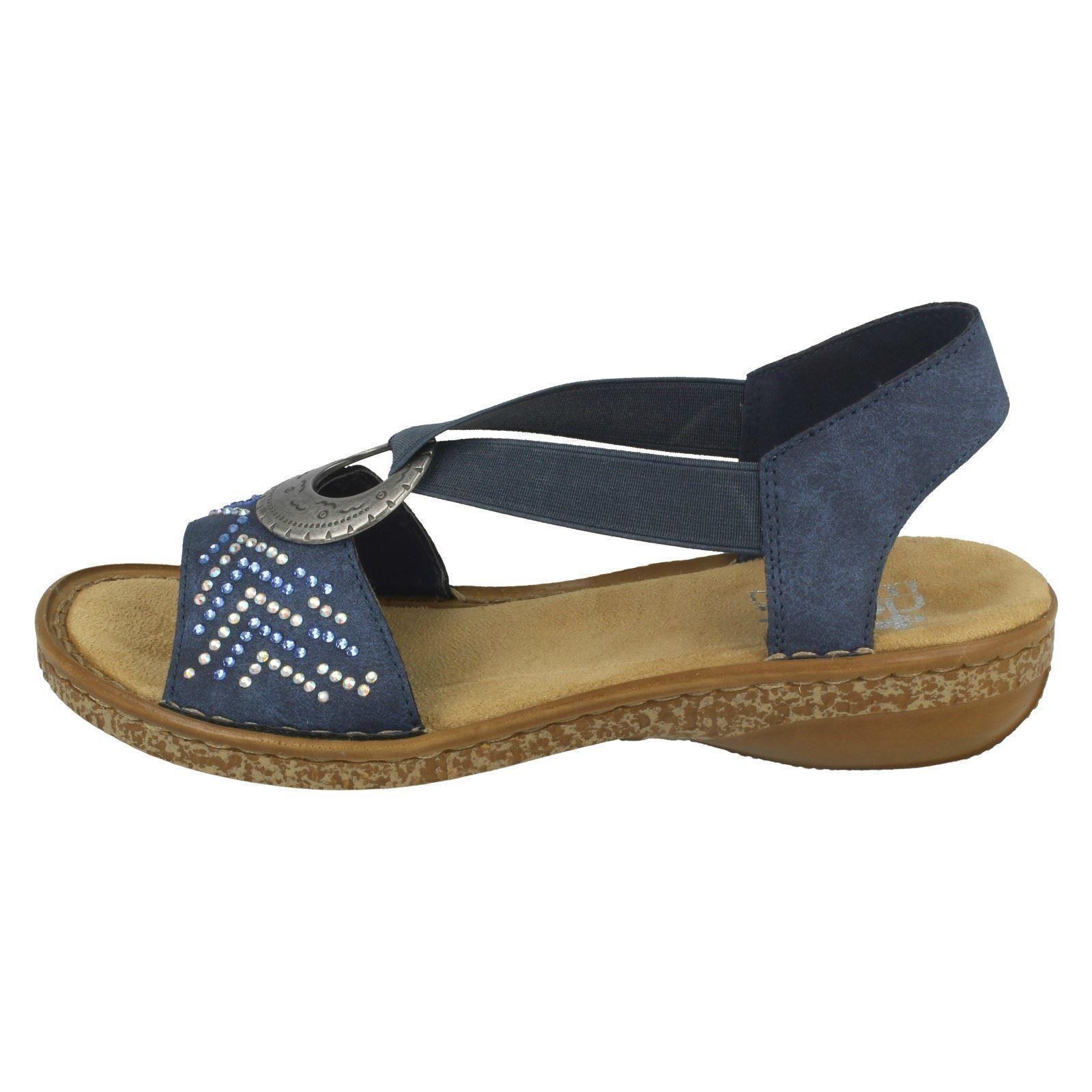 Sandals Diamante Rieker '62802' Blue Ladies vwqEHpxYB