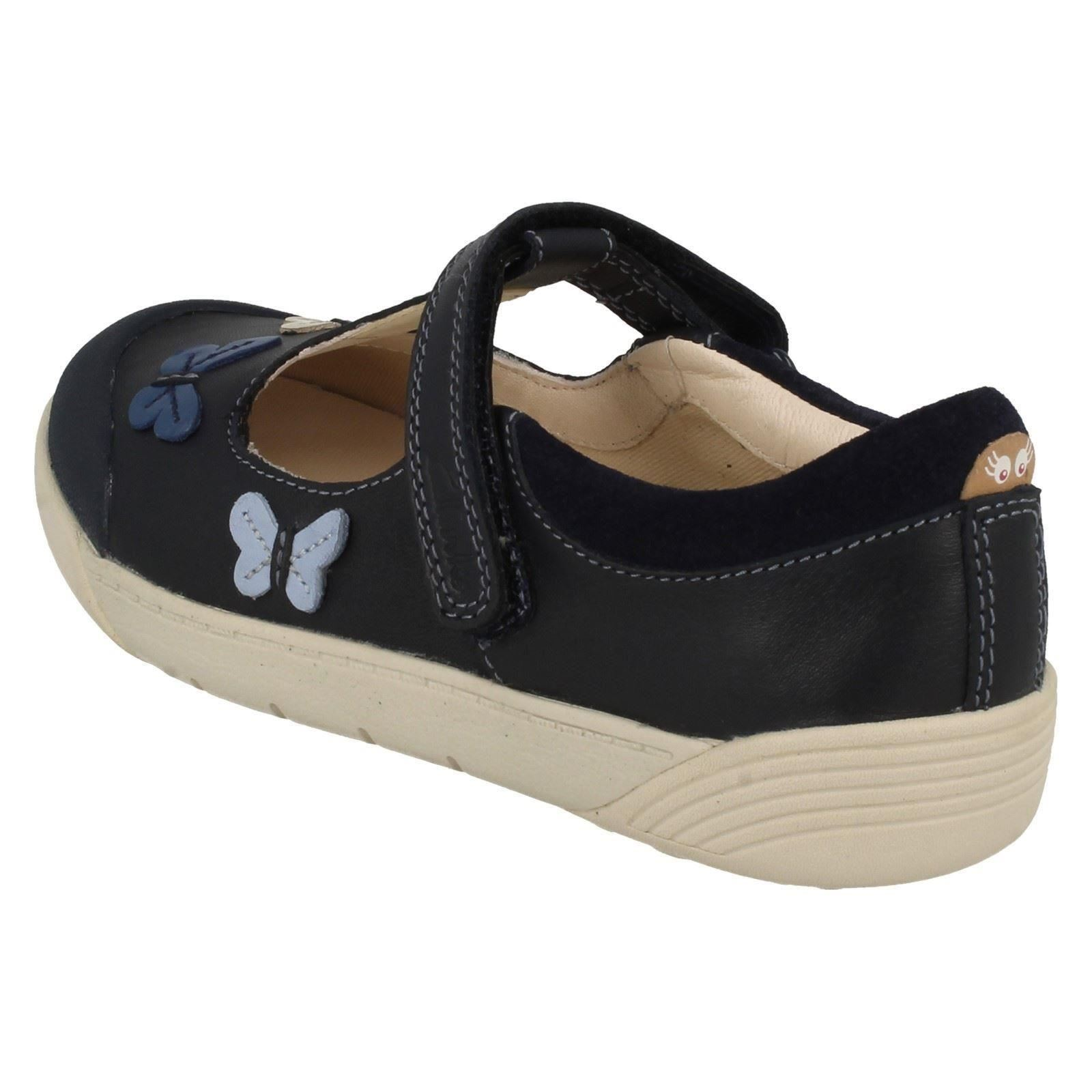 Chicas Clarks Zapatos T-Bar * lilfolk Flo *