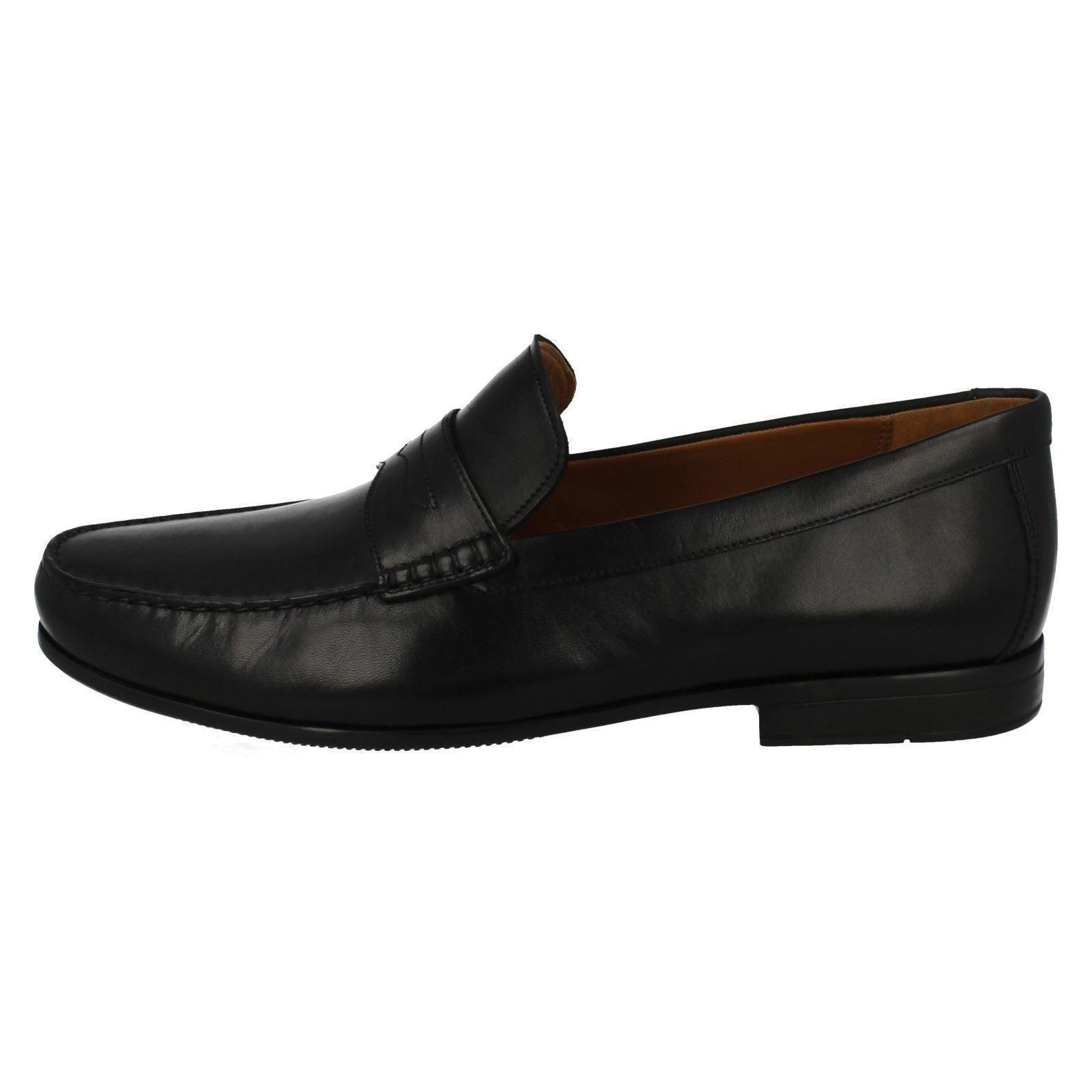 Clarks cuero zapatos mocasín hombre de Clarks para en Claude Lane negro formales estilo rqBXr01