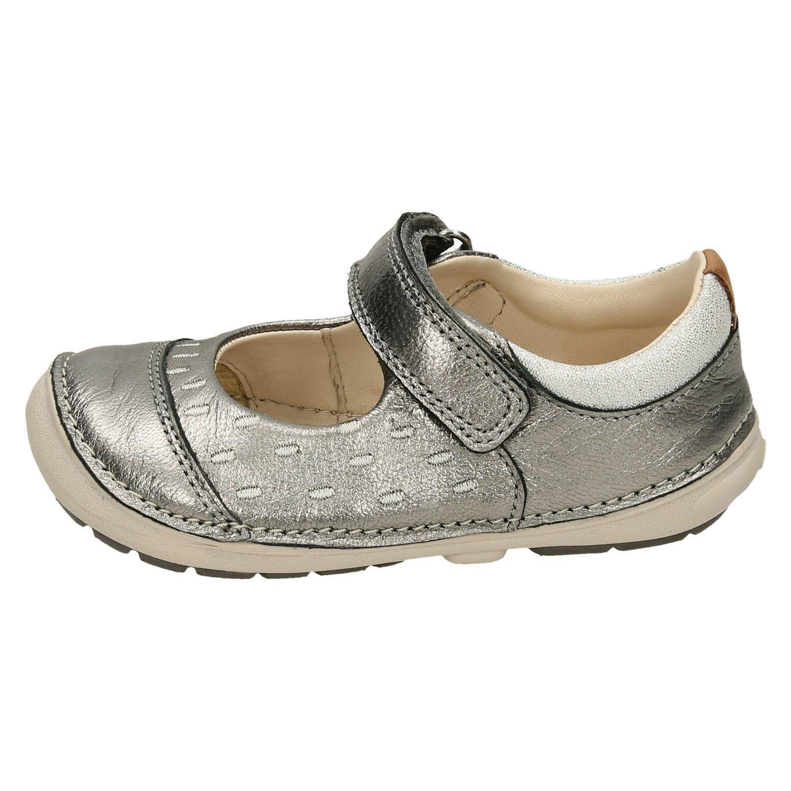 Niña Softly Clarks Lou Zapatos Informal Primeros Calzado HSH8gwqxr