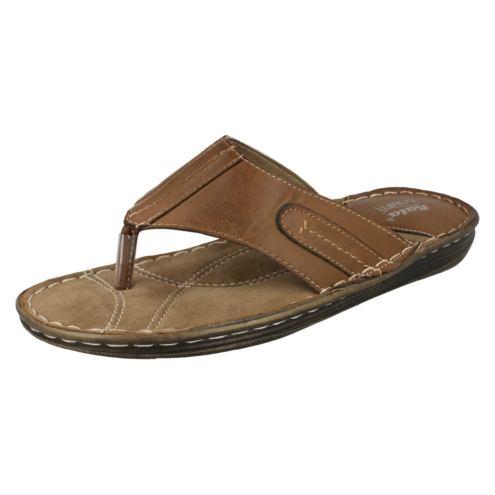 1638b4ff80f3 Mens Bata Toe Post Sandals  861-4601  Brown UK 6 Standard. About this  product. Picture 1 of 10  Picture 2 of 10 ...