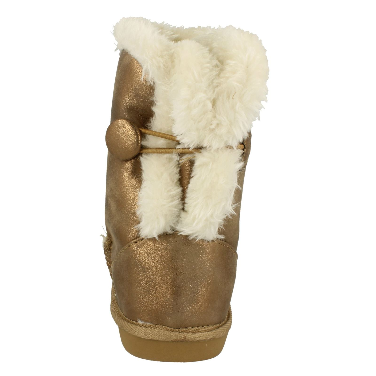 Spot On Girls Faux Fur Lined Winter Boots