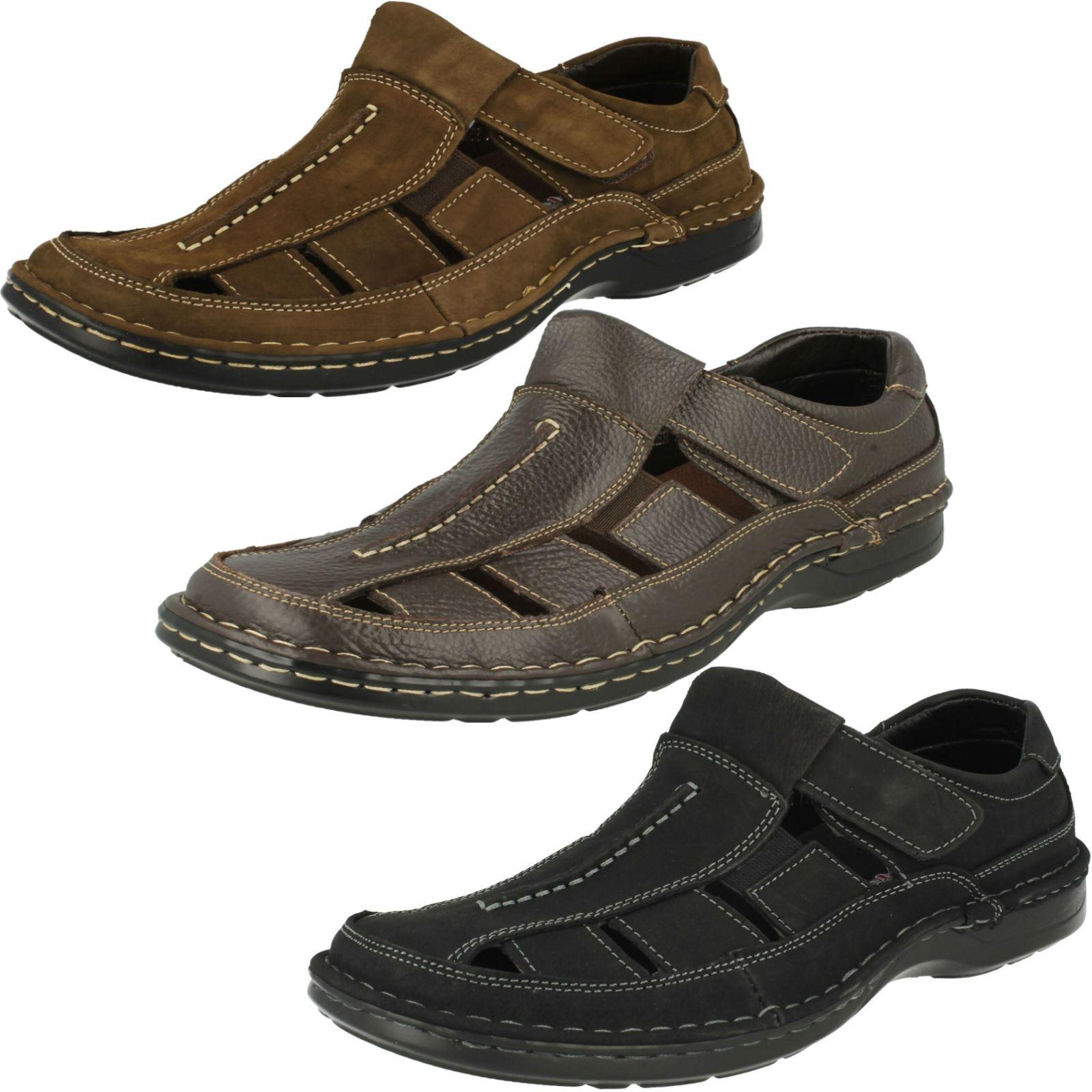 'Mens Padders' Closed Toe Leather Sandals Breaker