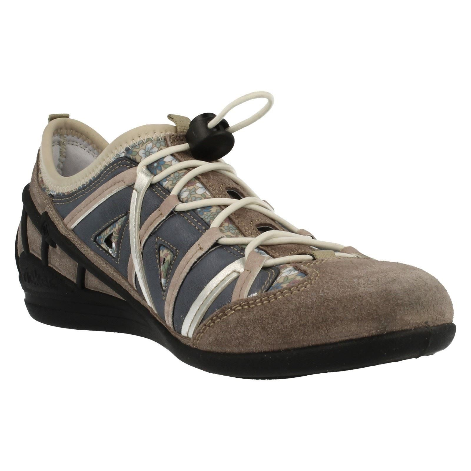 Casual Rieker Lightweight '59587' Shoes Combi Grey Ladies E6vWwOU6q