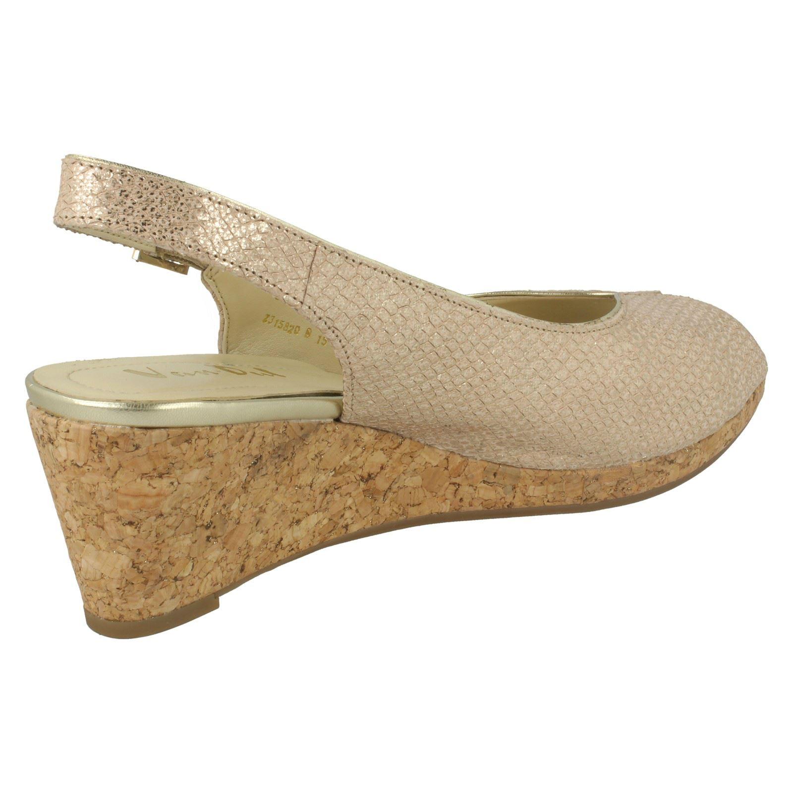 Ladies-Van-Dal-Cork-Wedge-Sandals-Gable thumbnail 5