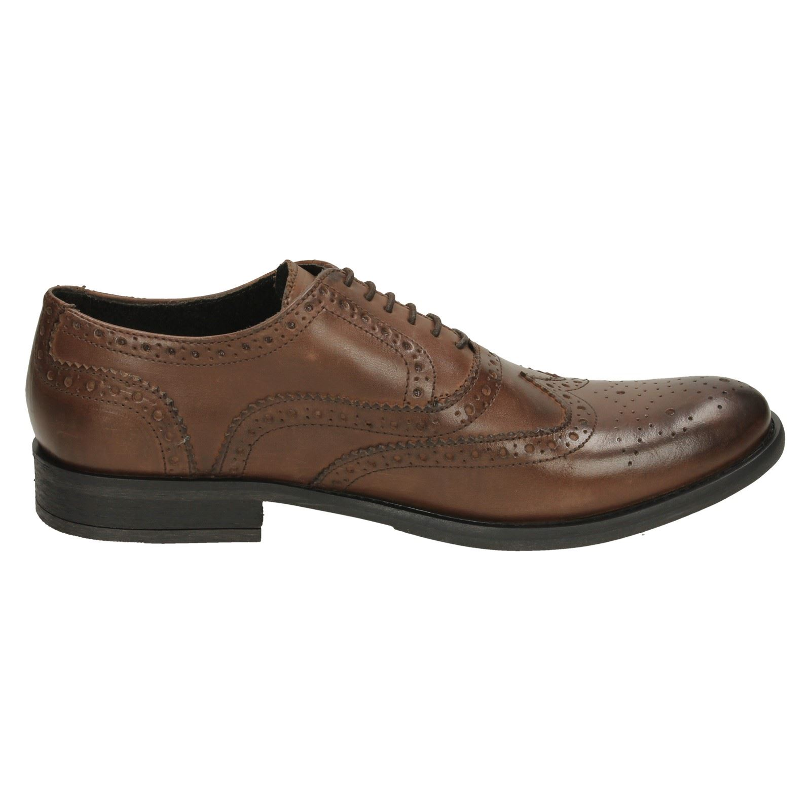 Herren Base London Brogue Leder Schuhes Walnut fbfecc
